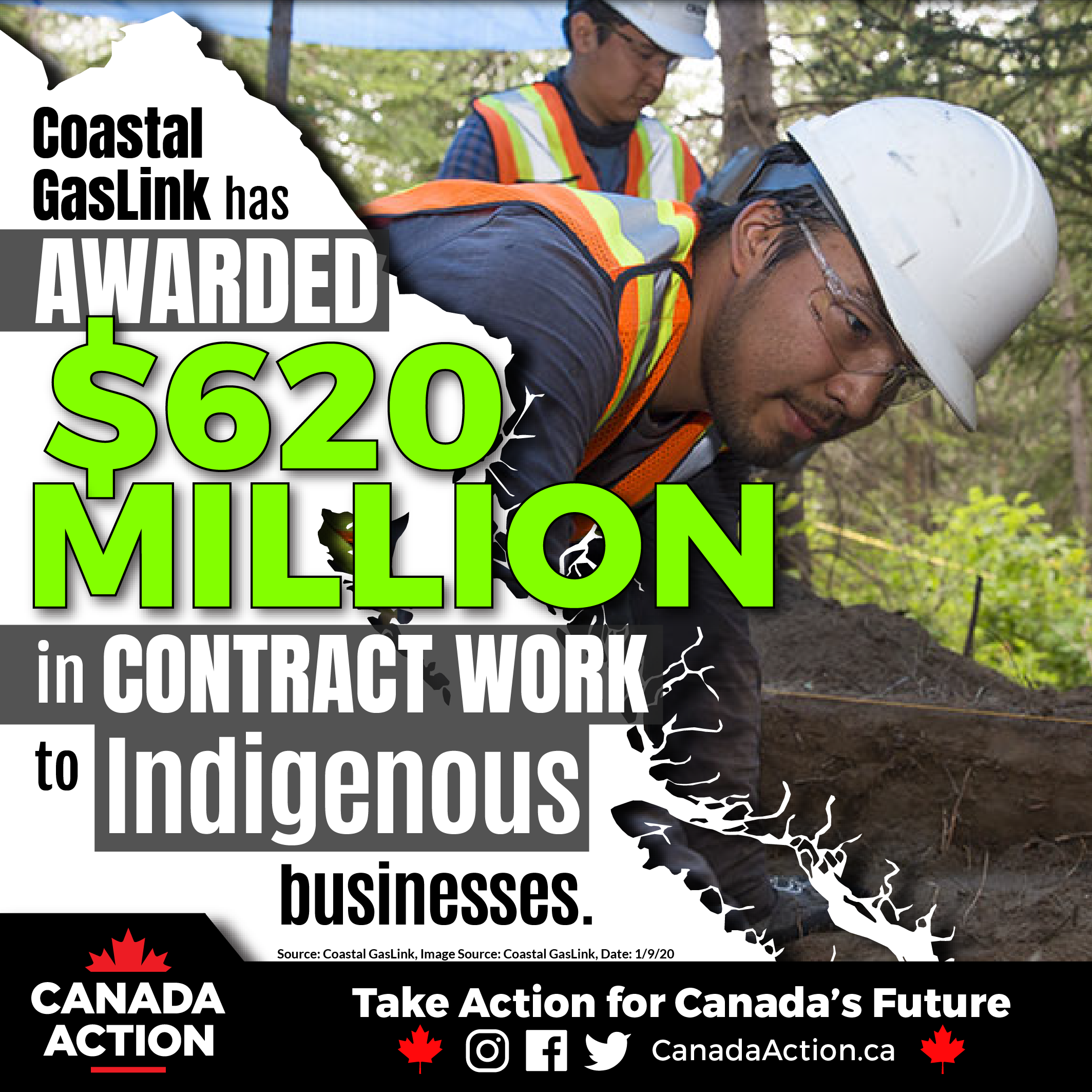 Coastal GasLink Pipeline Project $620 Million to Indigenous Businesses