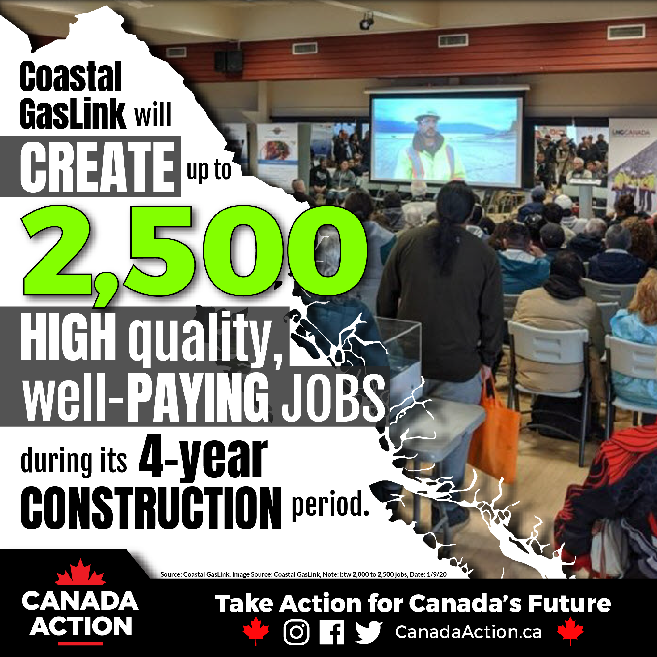 Coastal GasLink Pipeline Project 2,500 Jobs During Construction