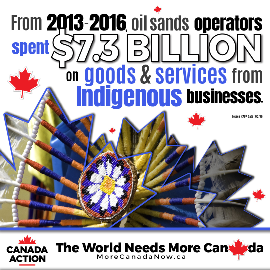 oil sands operators spent $7.3 billion on Indigenous spending between 2013-2016