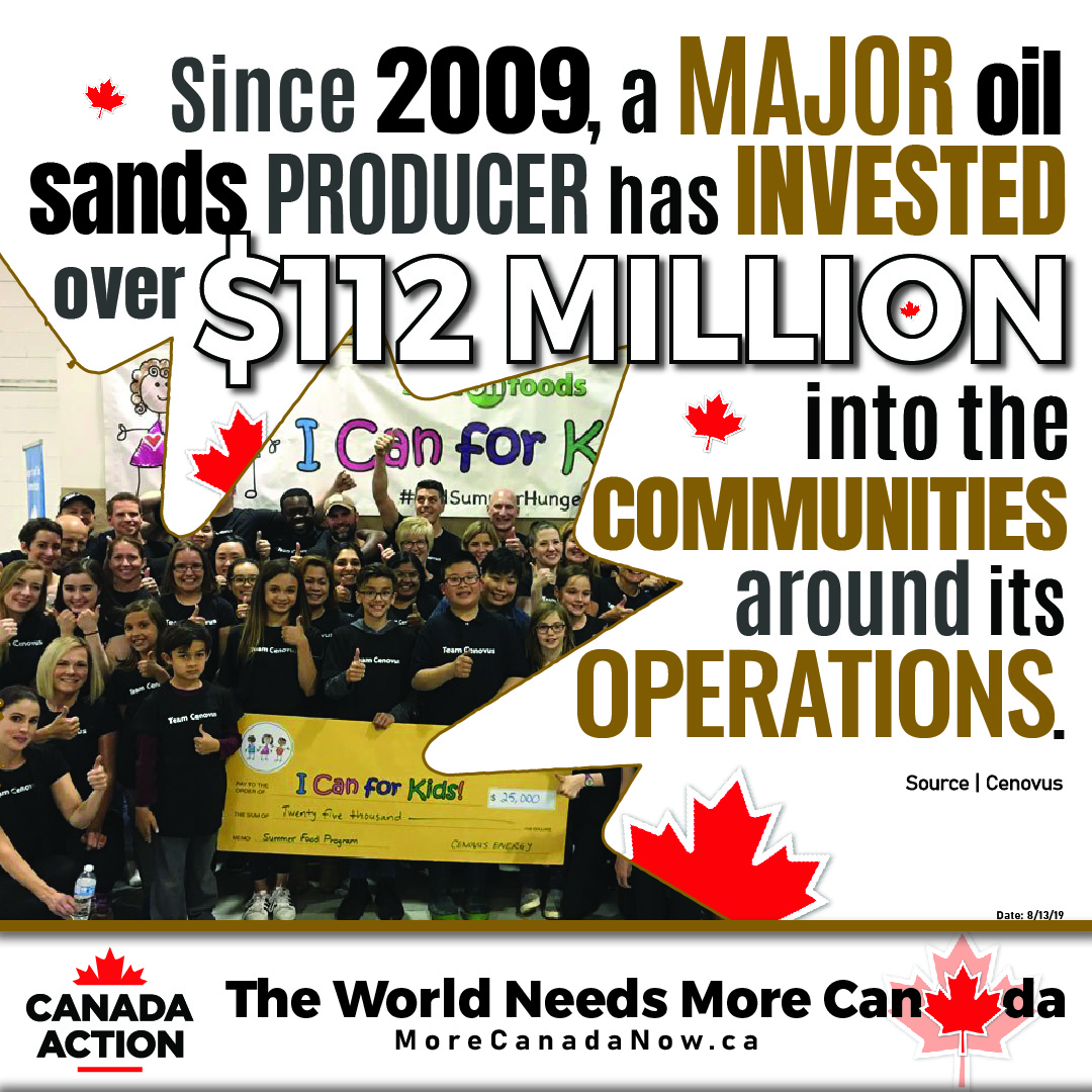 cenovus invested 112 million into communities near oil sands since 2009