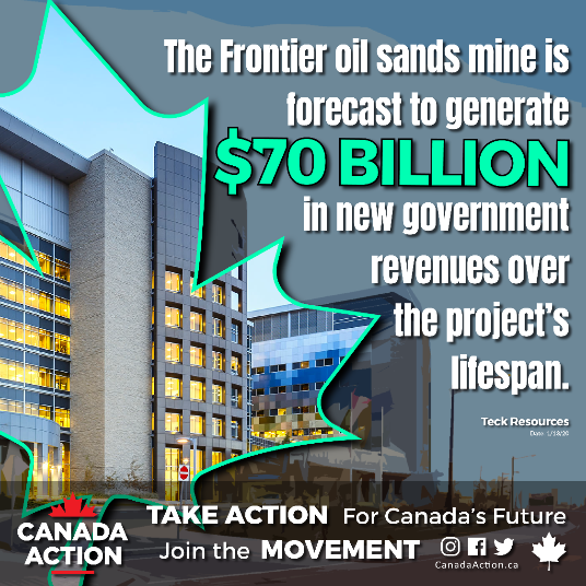 frontier oil sands tax revenues generated