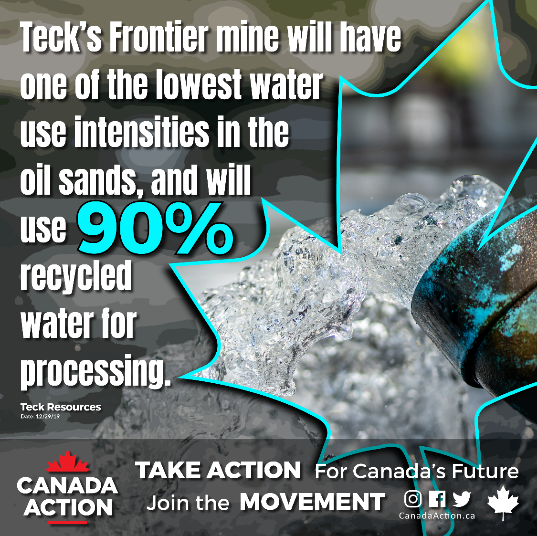 frontier oil sands water recycling initiatives technologies