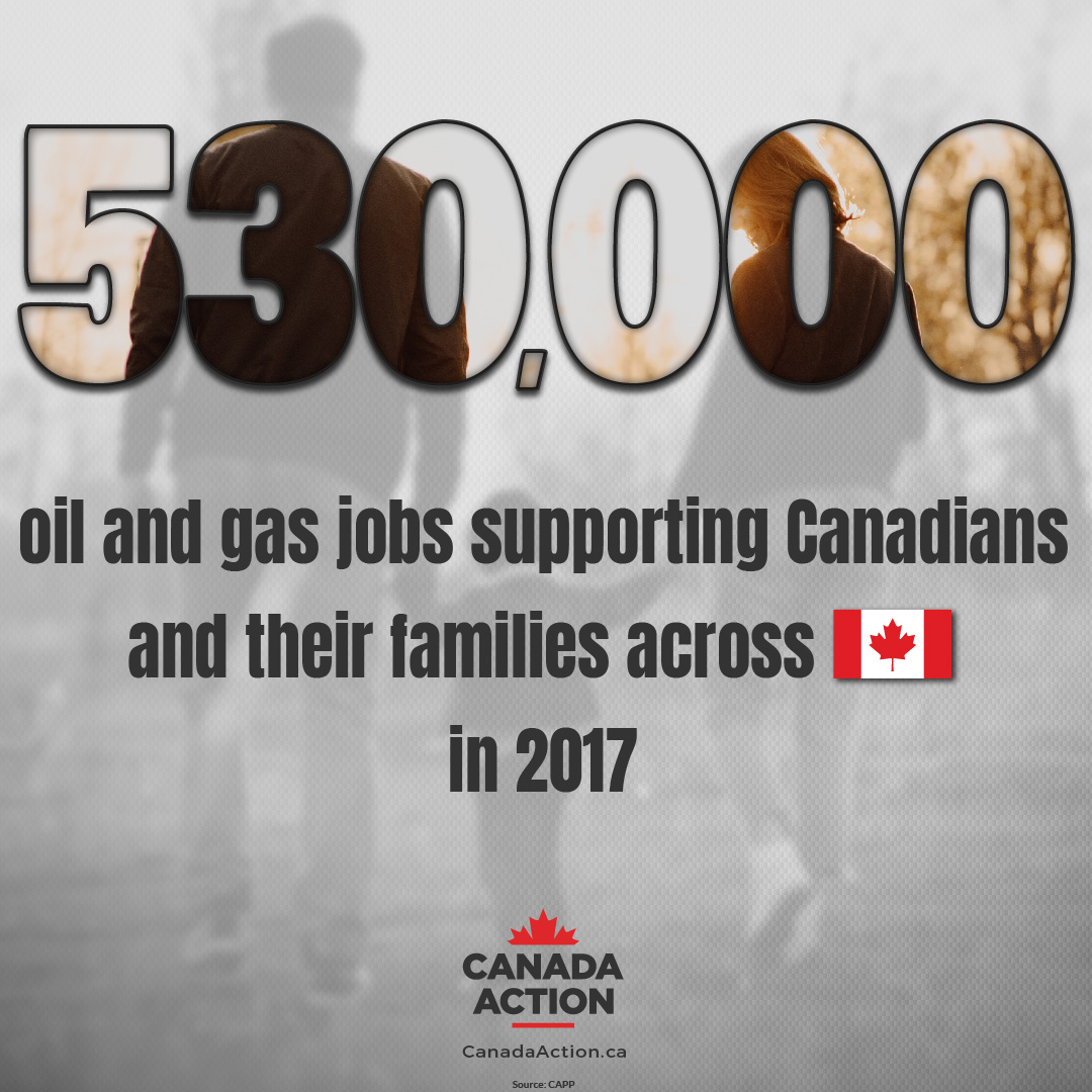 Canada's Oil and Gas Industry Supports 530,000 workers and families across the country