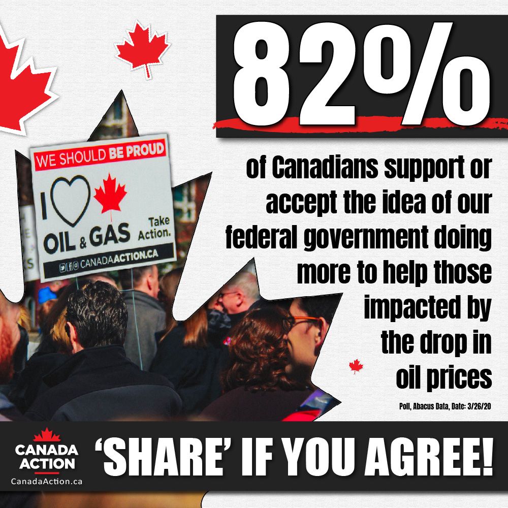 poll - canadians support oil and gas sector bailout by federal government