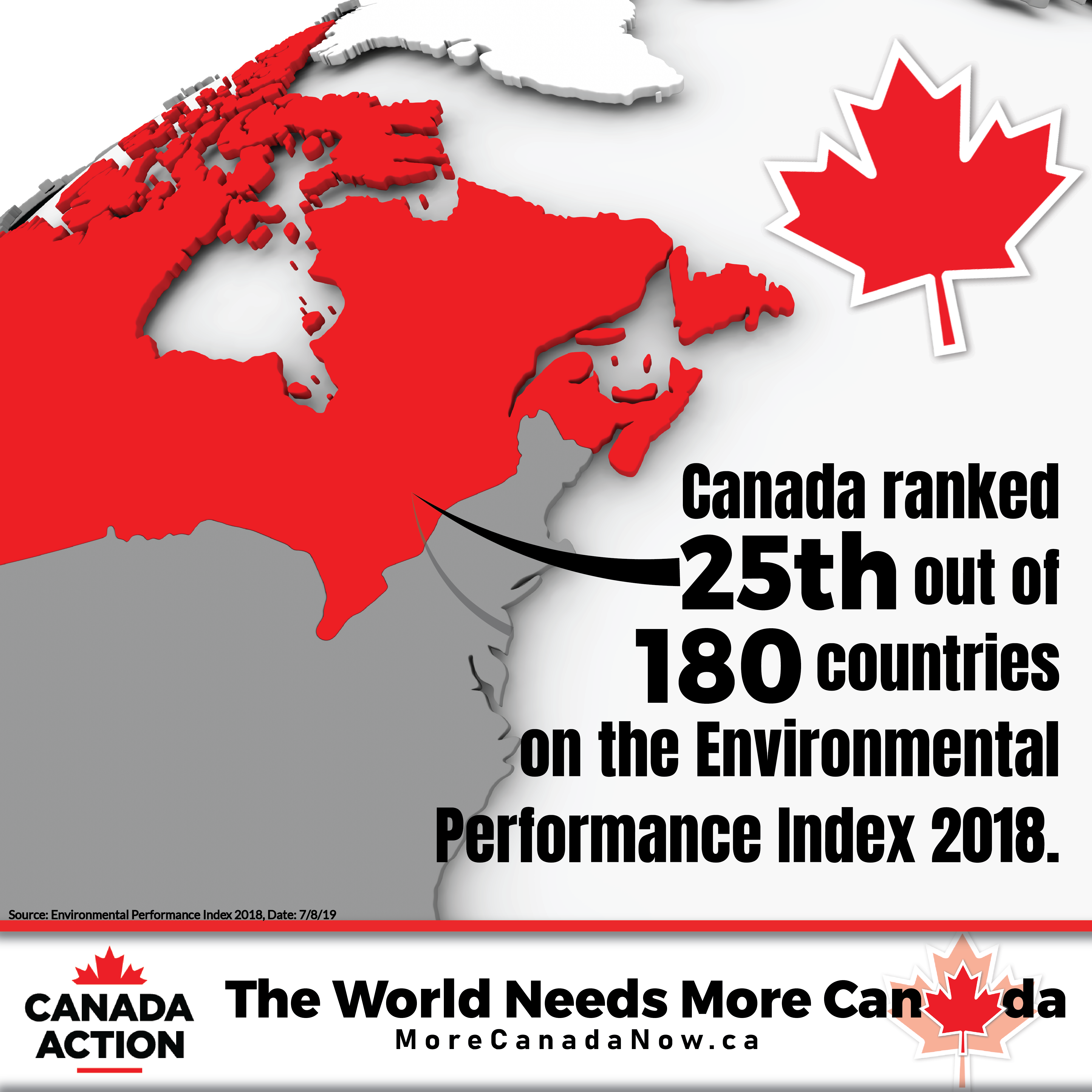 canada ranks 25th on environmental performance index 2018