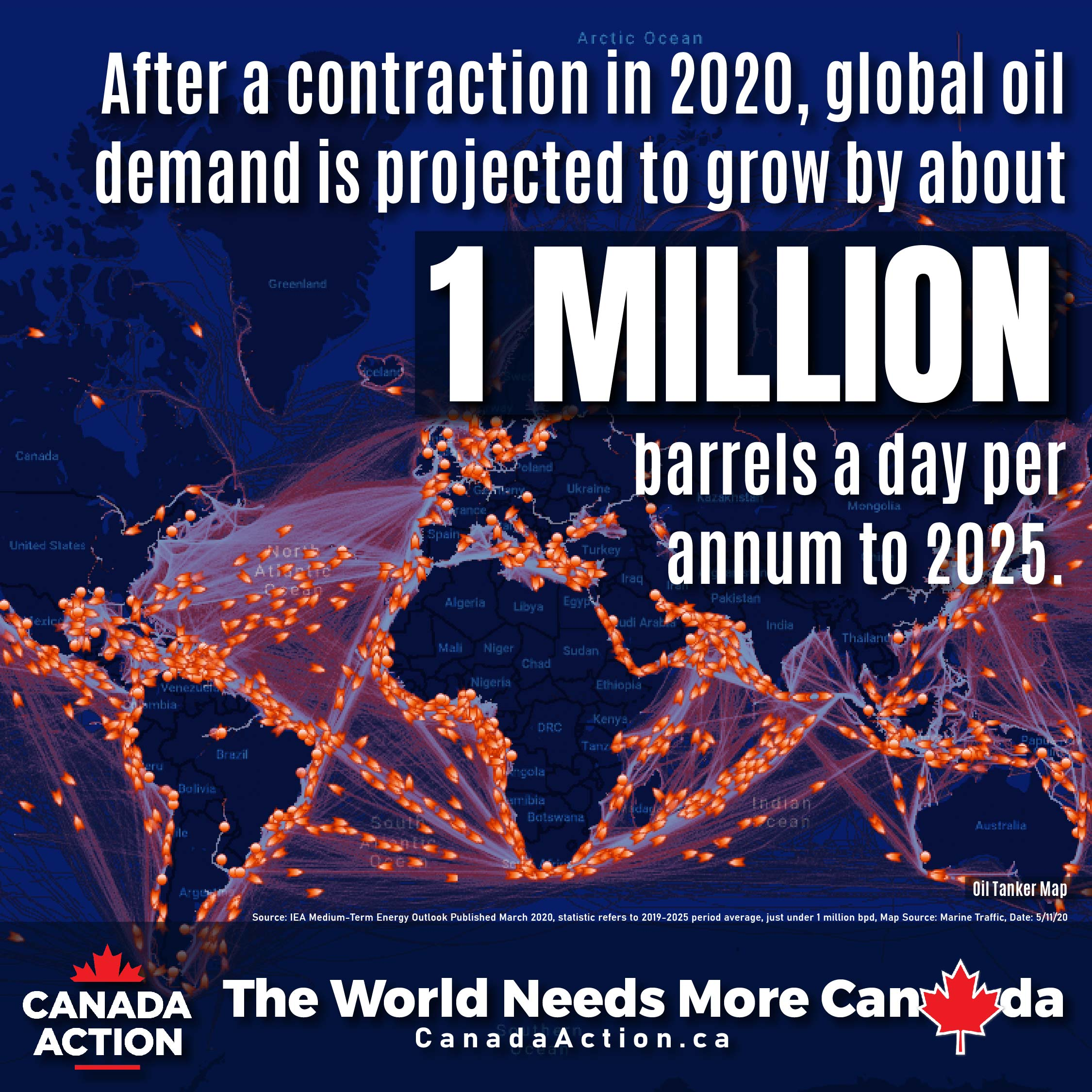 After Contraction in 2020, oil demand to grow by 1 million barrels per day a year through to 2025