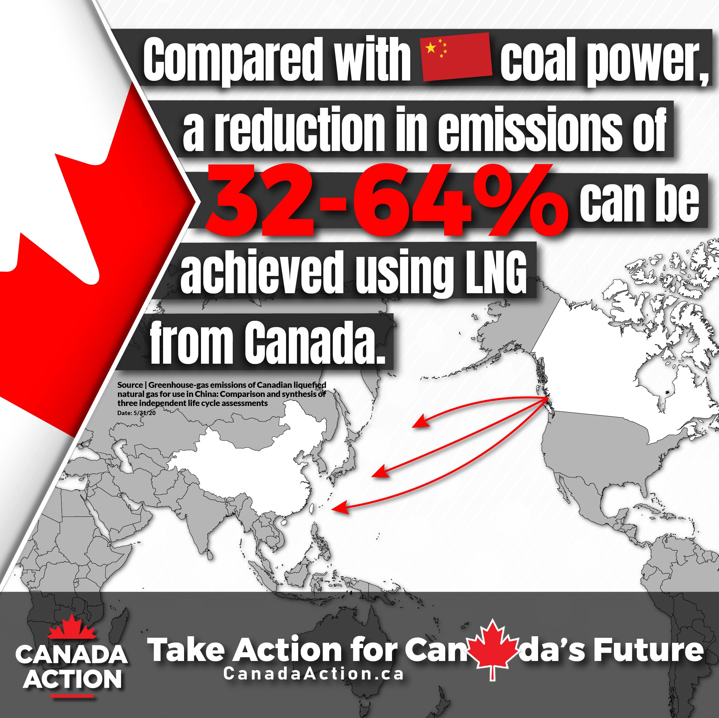 Canadian LNG to China for heat and power can reduce GHG emissions