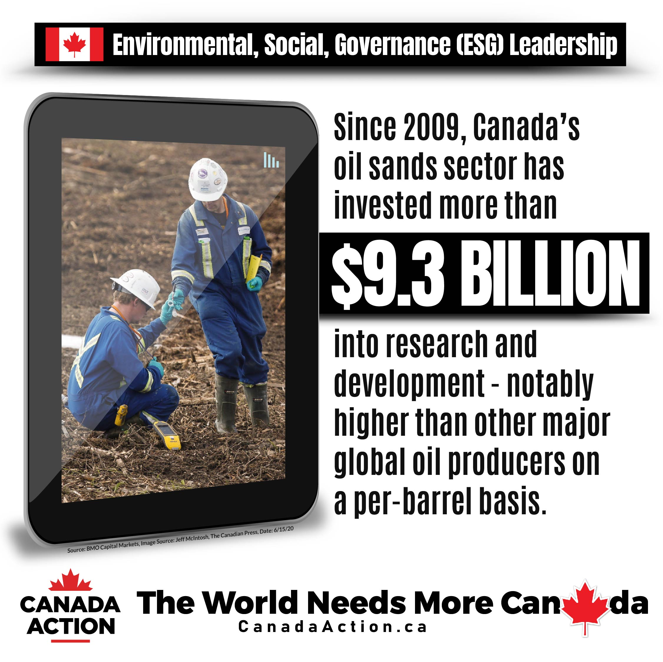 Canada's oil sands invested $9.3 billion into research and development since 2012