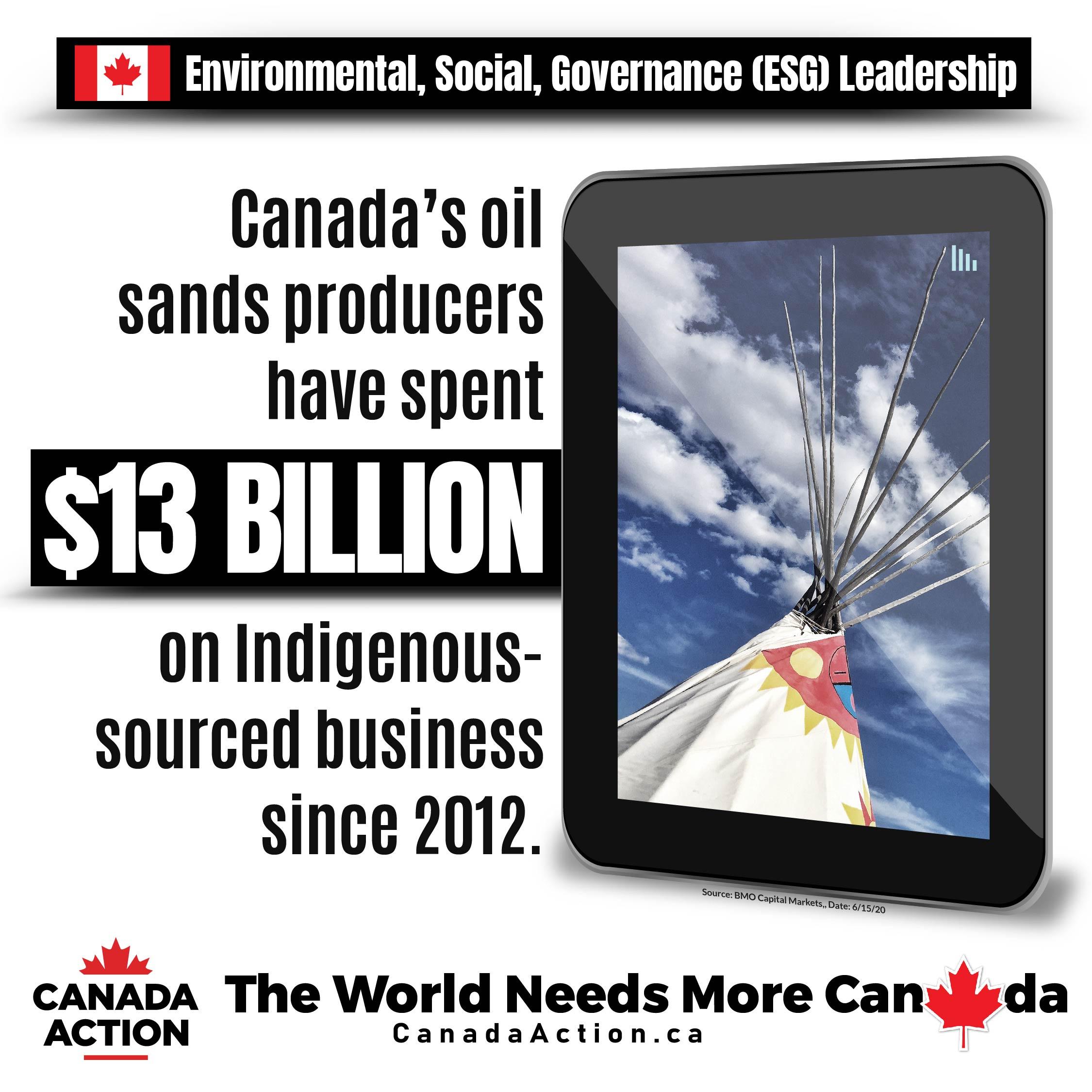 canada oil sands sector leader on social investor criteria indigenous support 13 billion since 2012