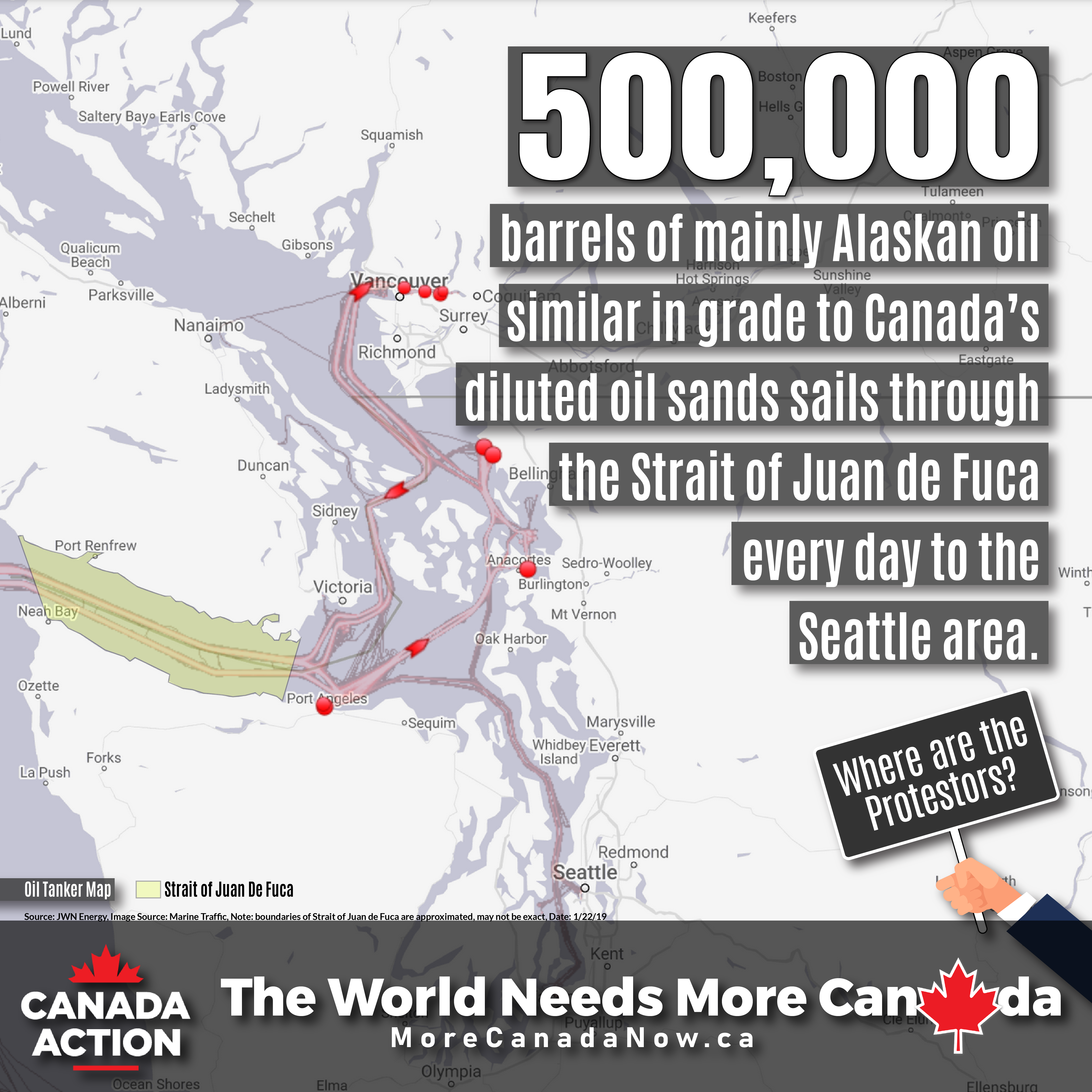 salish sea oil tankers crude oil every day