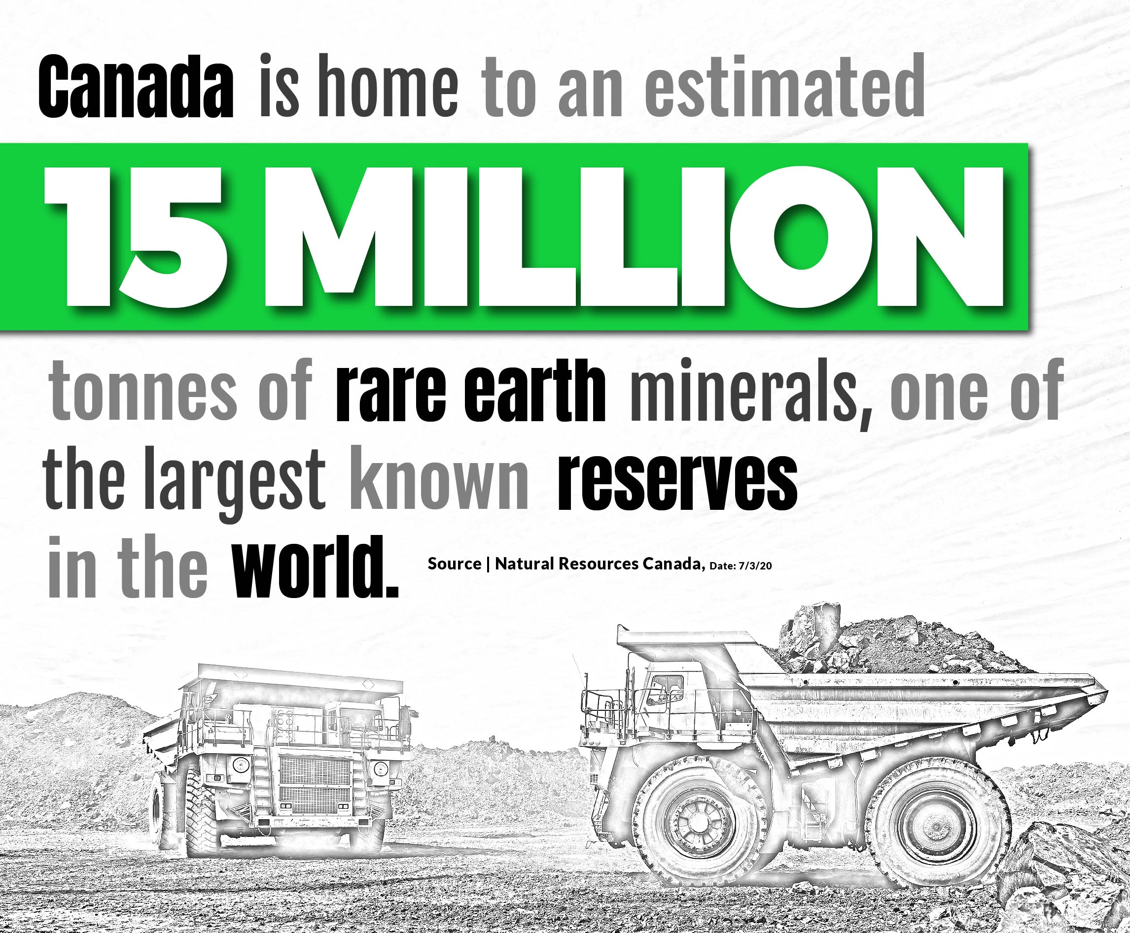 canada is home to 15 million tonnes of rare earth minerals