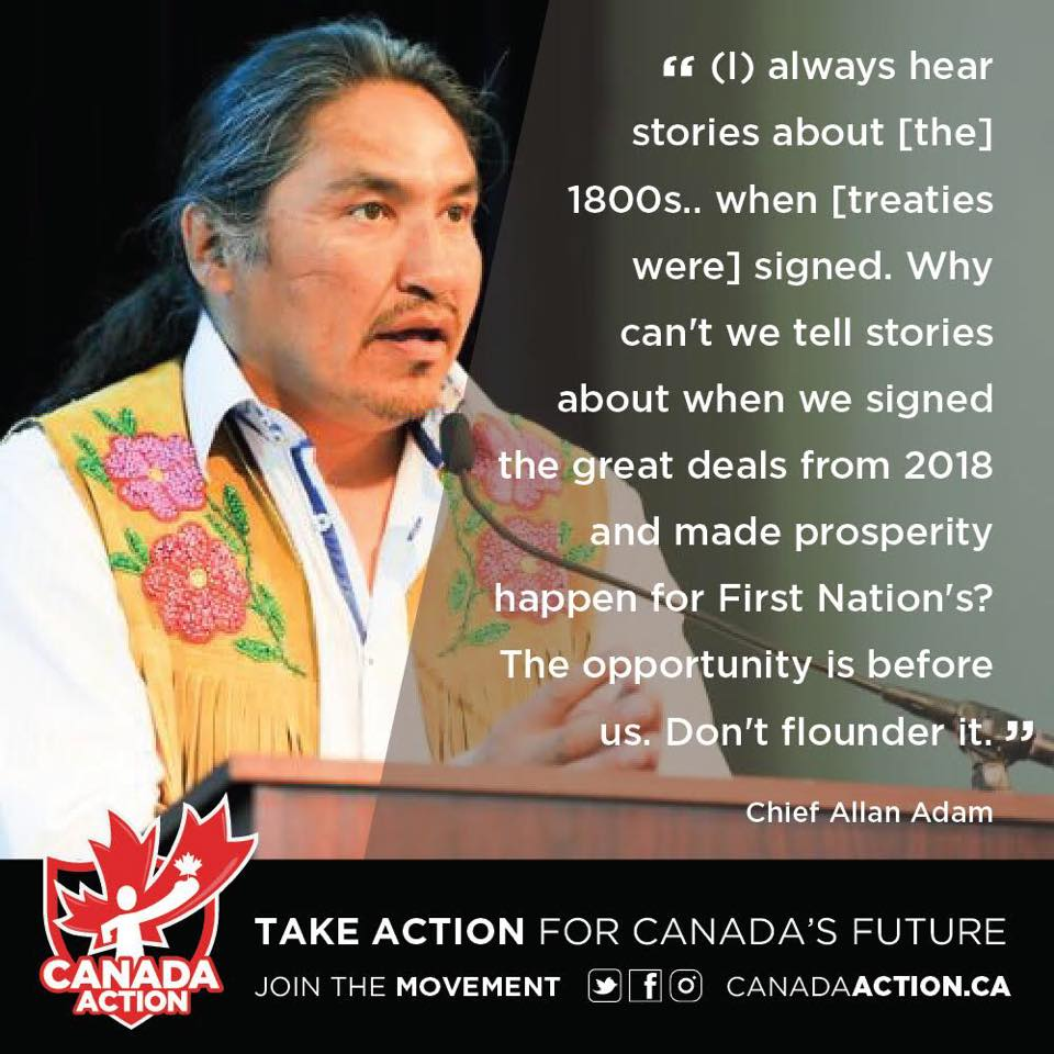 Chief Allan Adam, Athabasca Chipewyan First Nation, Supports Trans Mountain Pipeline Expansion