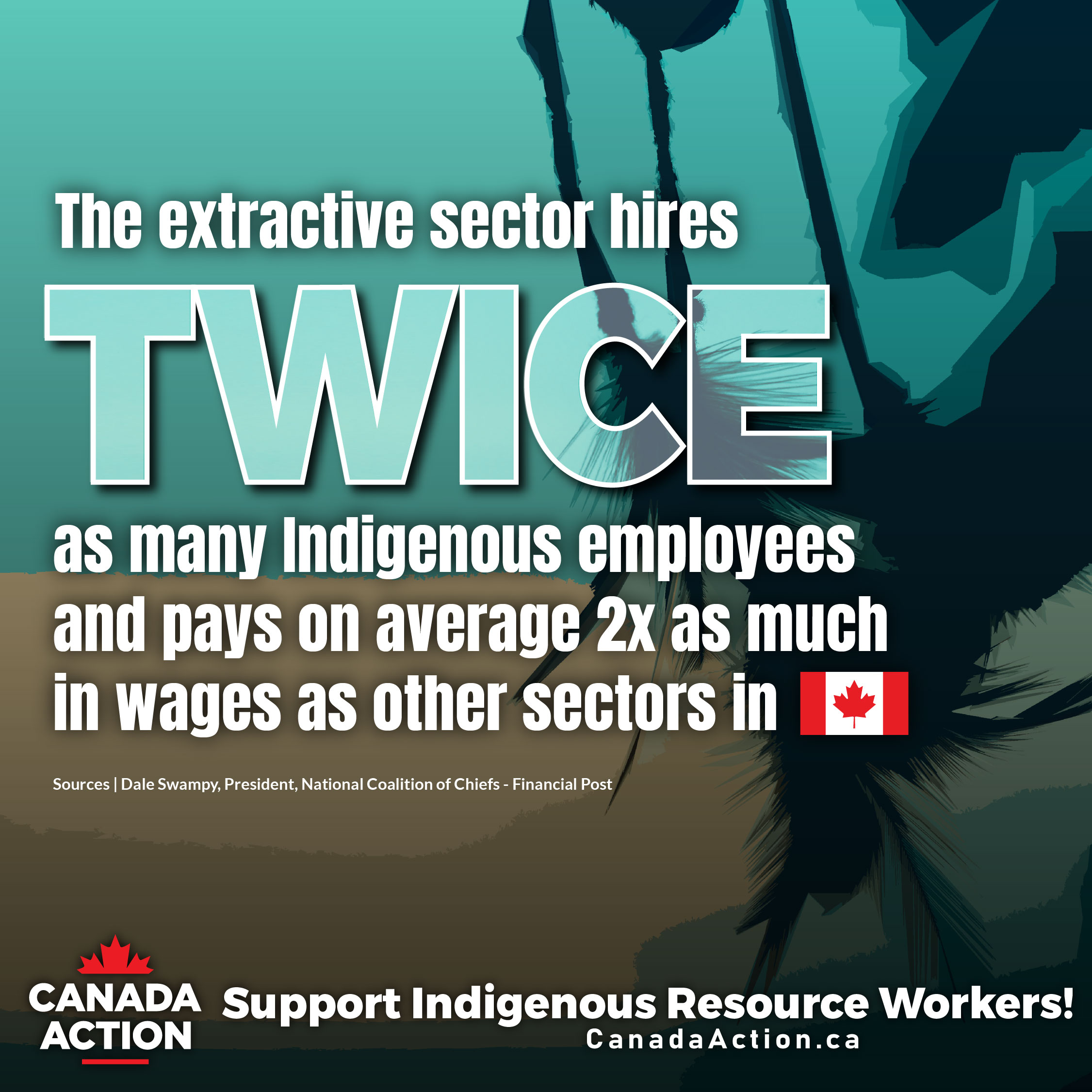 Canada Natural Resource Sectors Hire Many Indigenous Peoples and Pay them More