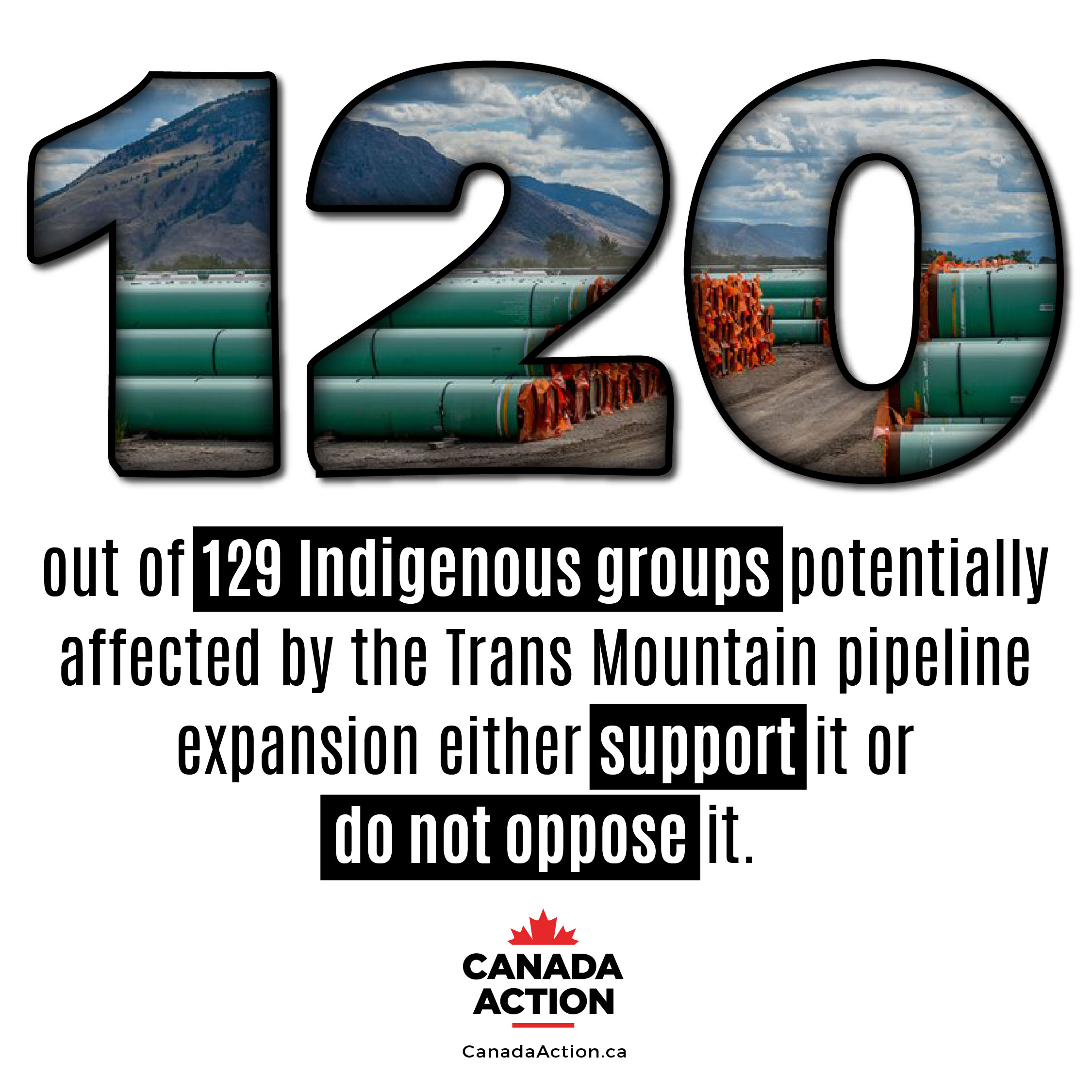 A majority of Indigenous people support trans mountain expansion pipeline