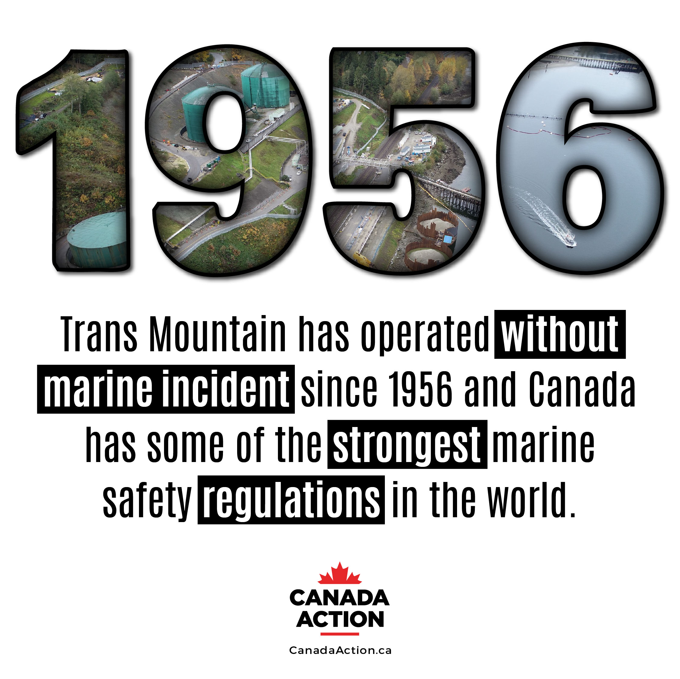 Trans mountain pipeline Canada has operated without marine incident since 1956