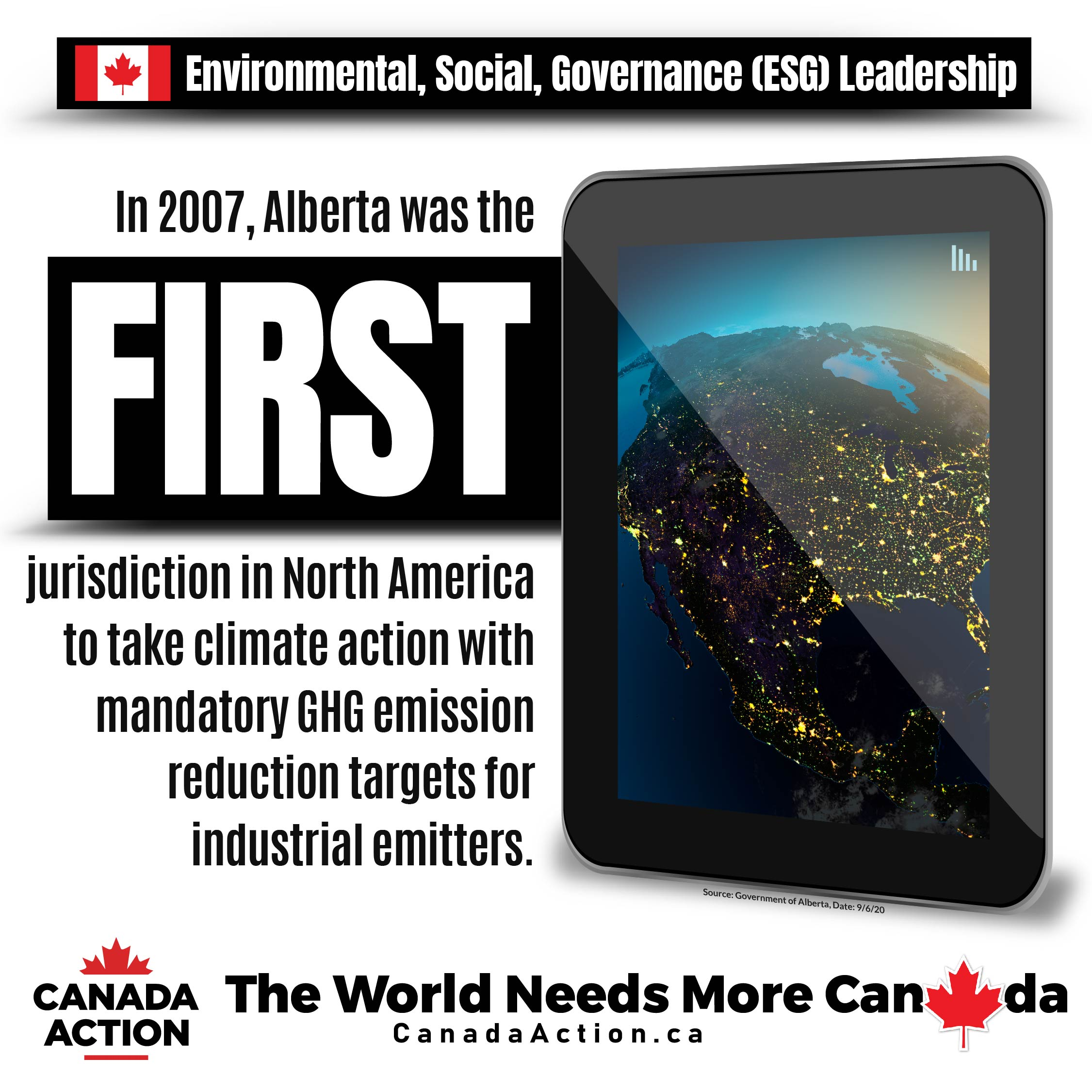 Alberta is a world-class environmental oil and gas producer