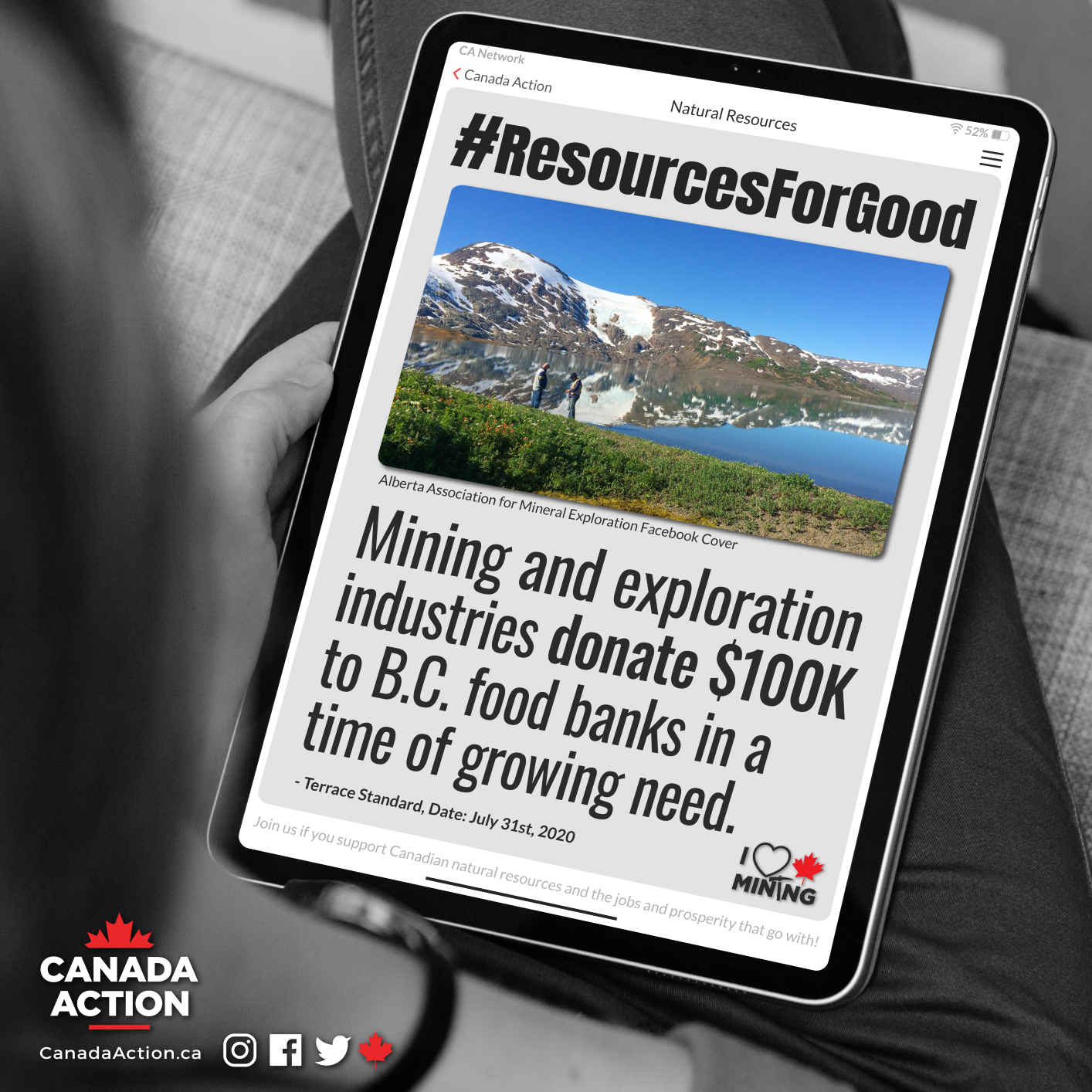 Canadian mining exploration companies donate to BC food bank