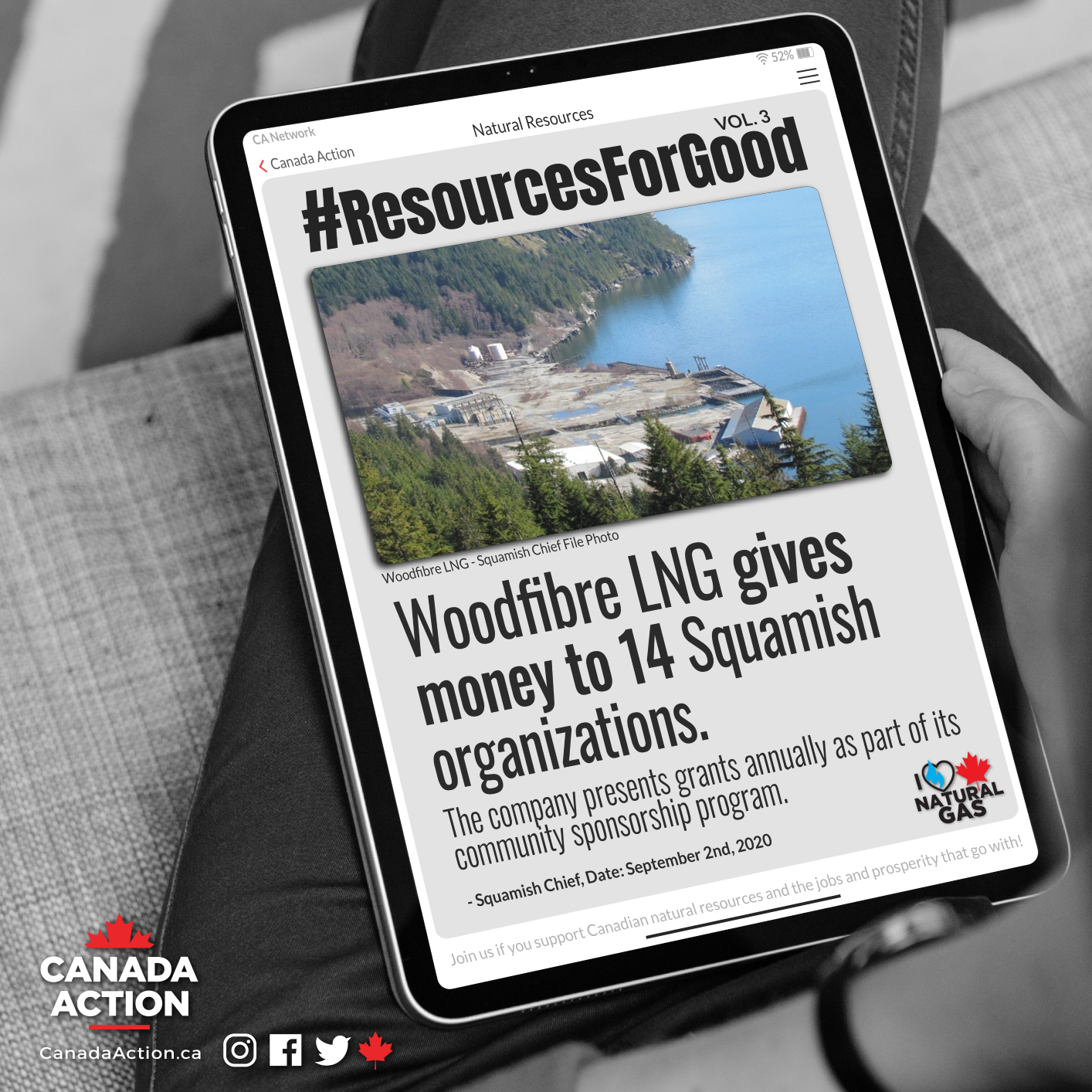 Woodfibre LNG Donates to Squamish in B.C.