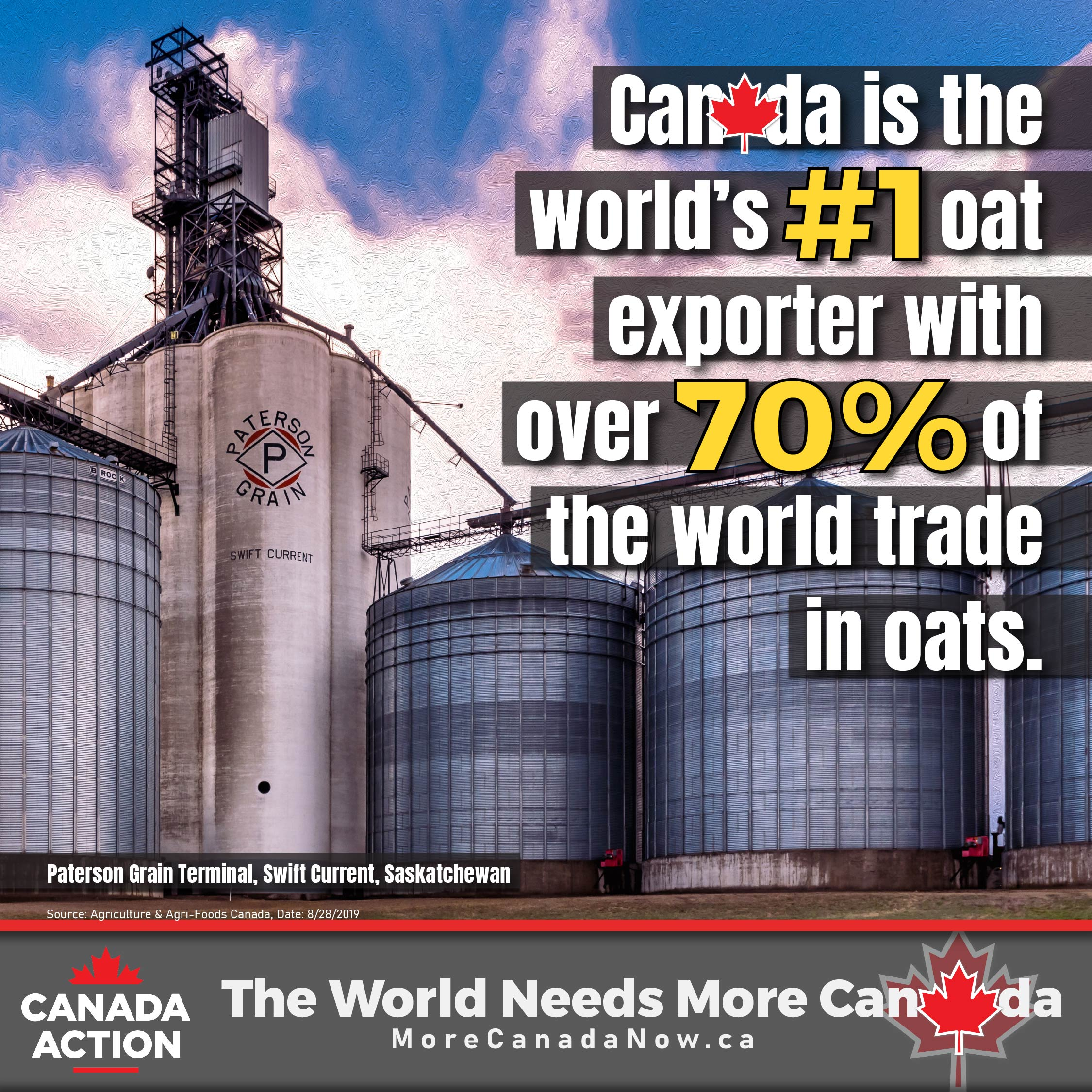 oat farming canada - #1 exporter of oats globally