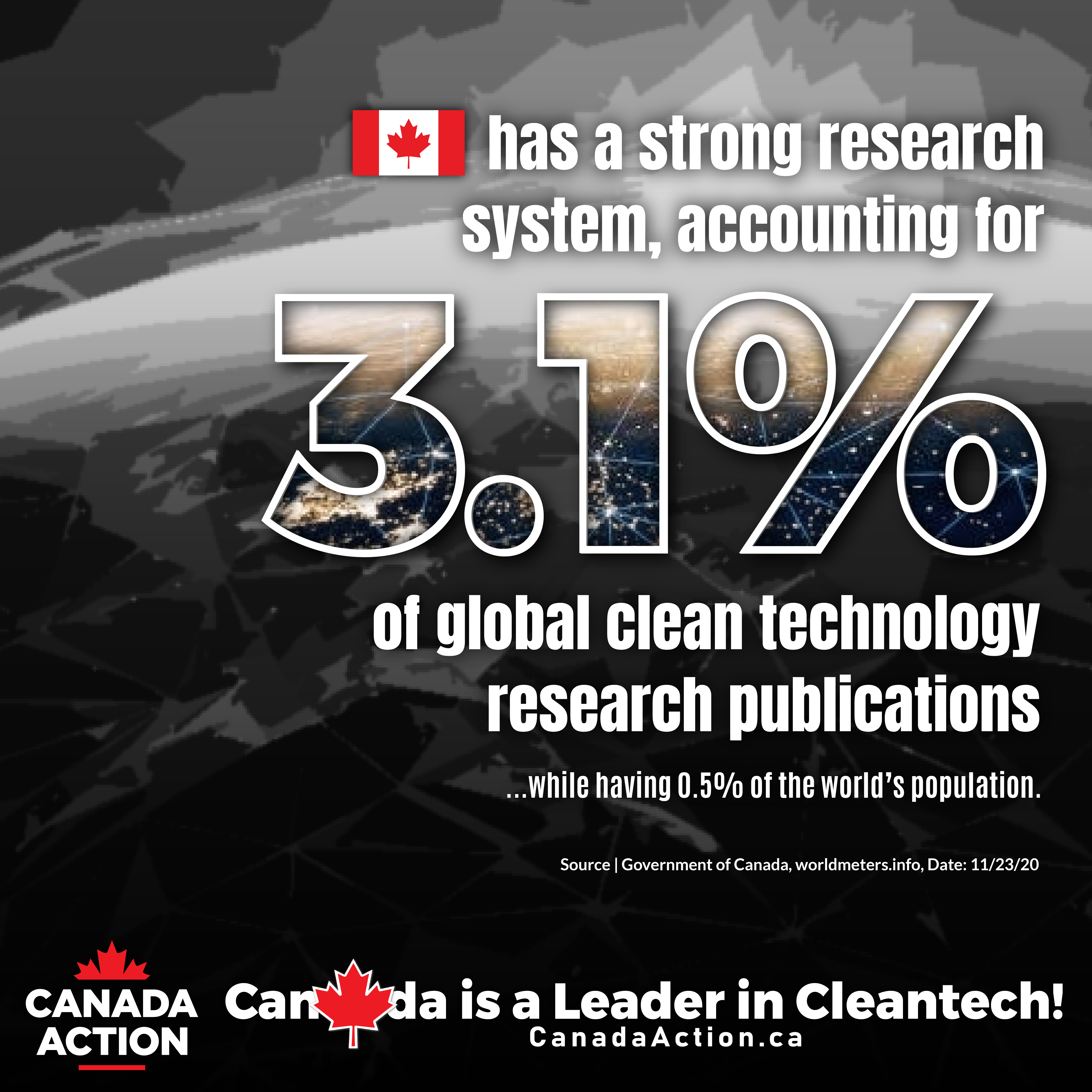 Canada is a world leader on cleantech research and publications