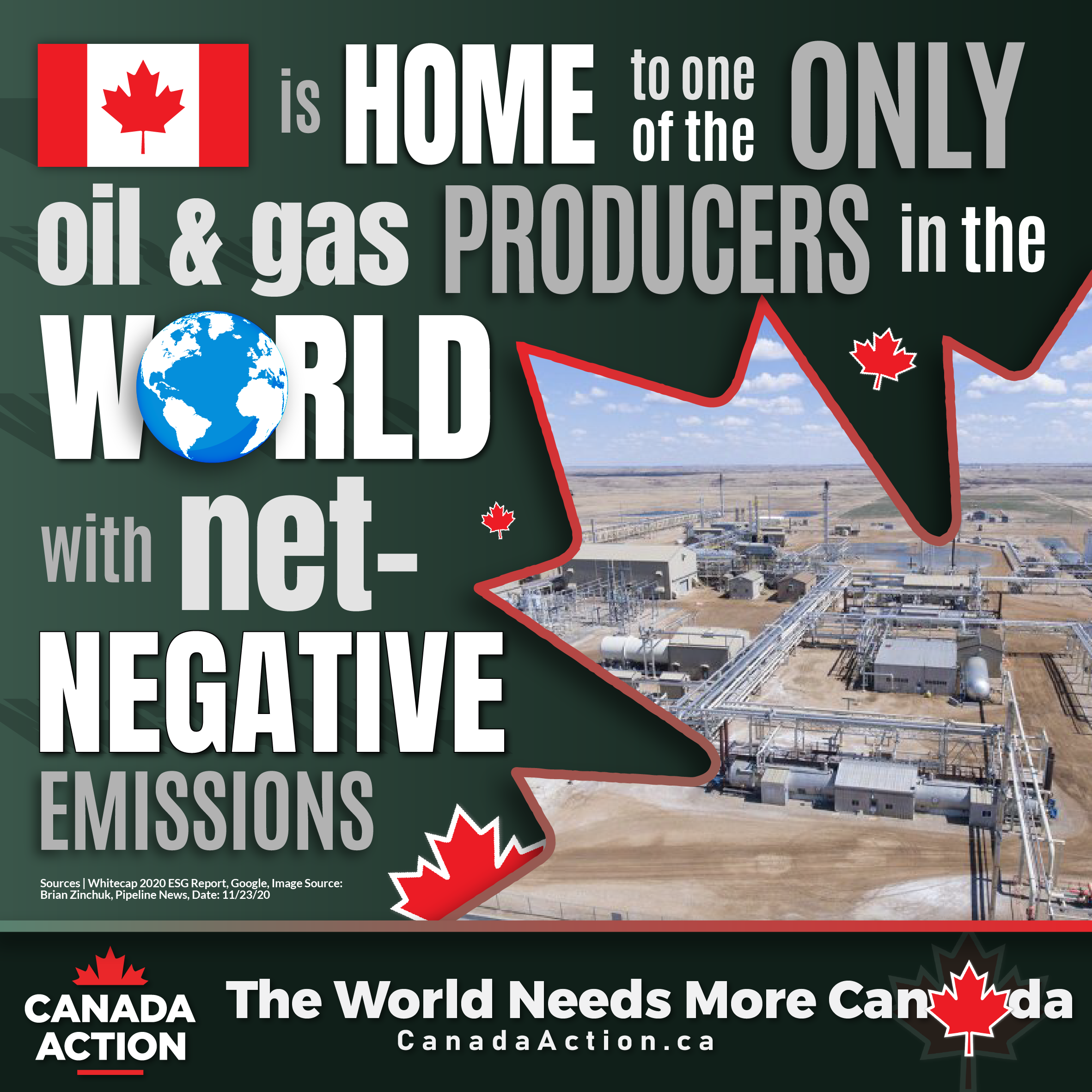 An oil and gas producer in Canada has net negative emissions
