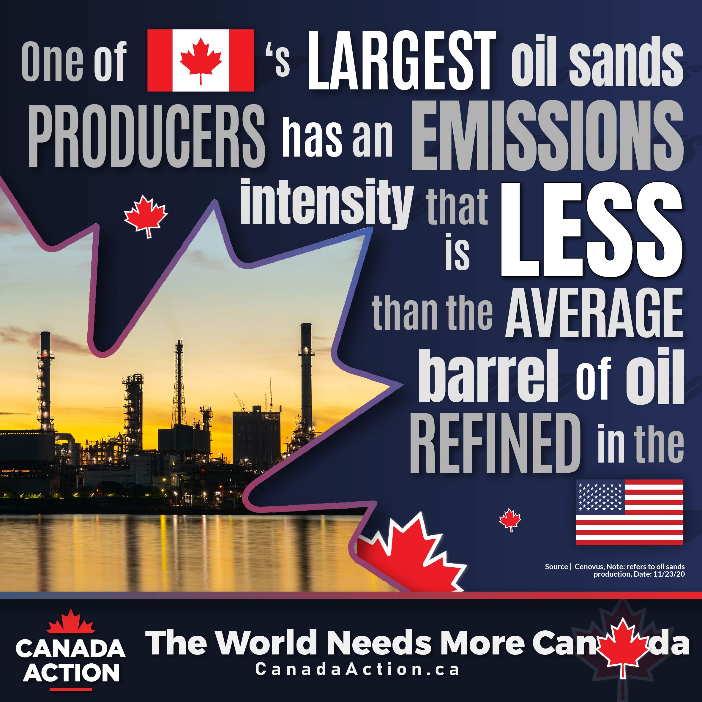 Canadian oilsands producers emission intensity reductions world-class