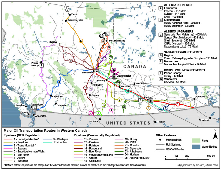 western canada refineries - canadian energy regulator