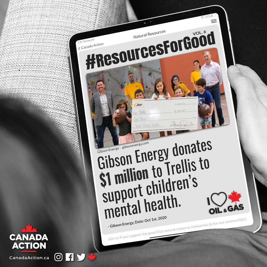 Resources for Good Gibson Energy Donates 1 Million to children mental health