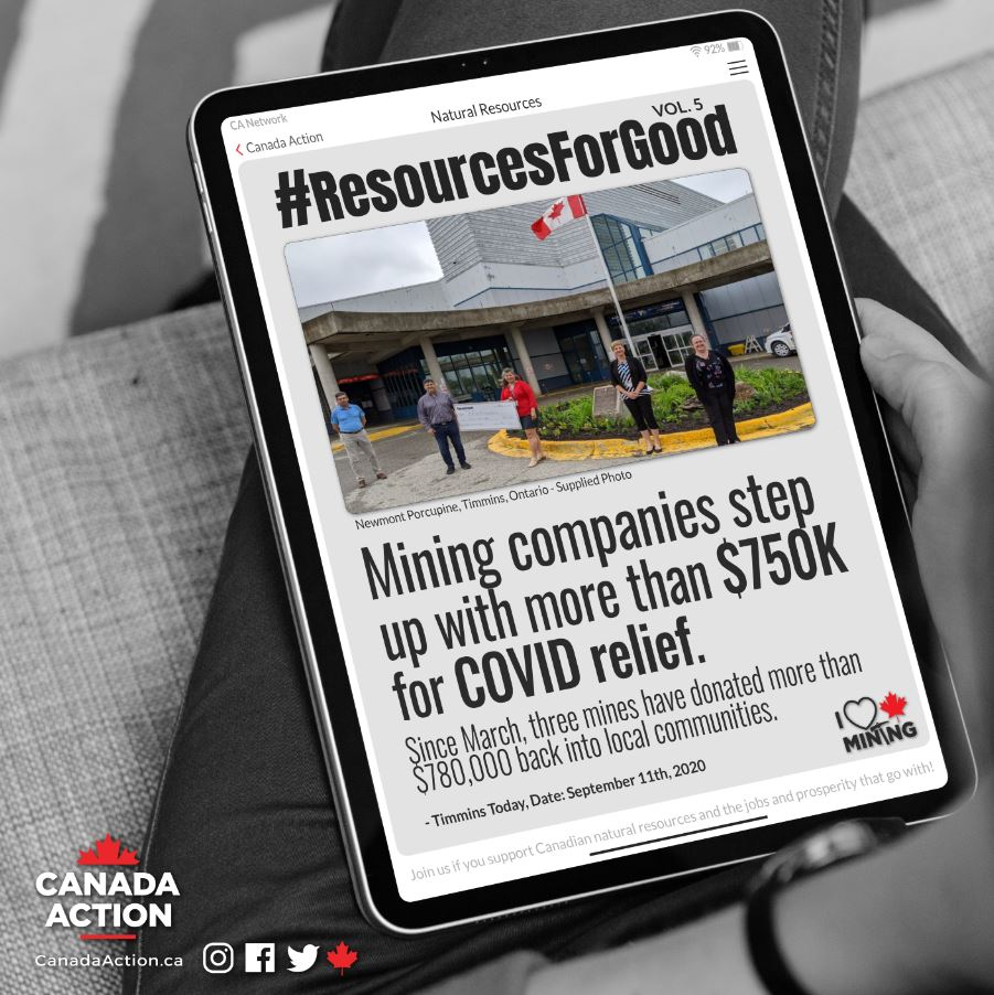 Ontario Mining Companies step up with $780,000 in COVID relief
