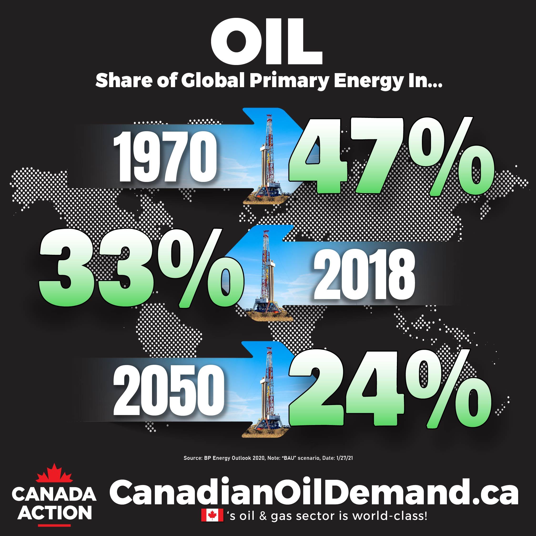 crude oil demand through to 2050 - bp energy outlook BAU 2020