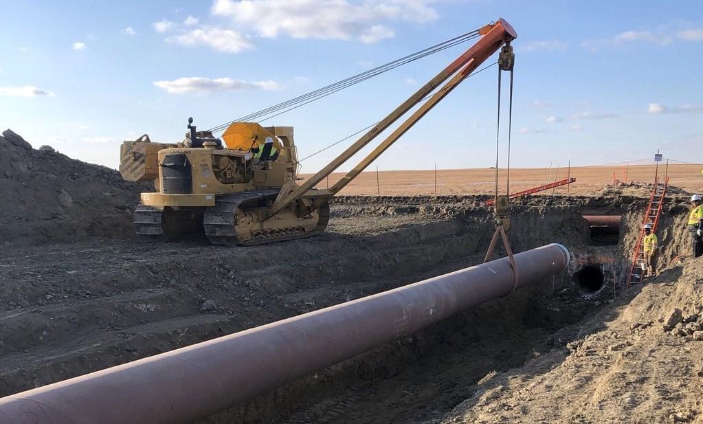 Keystone XL pipeline under construction