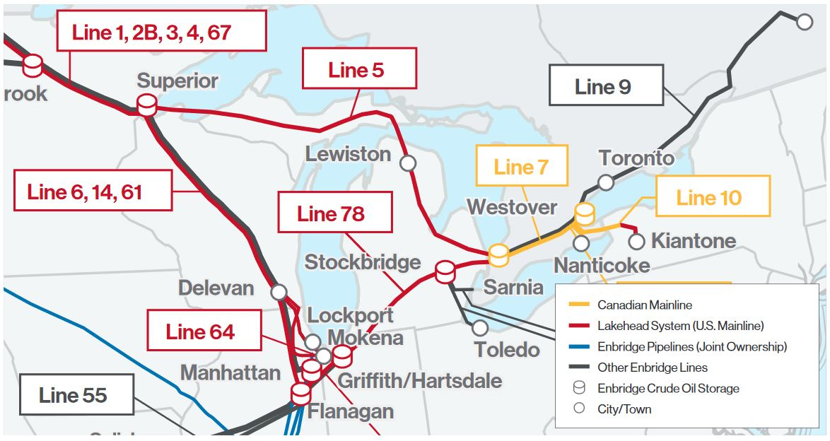 Line 5 Pipeline Map - Enbridge