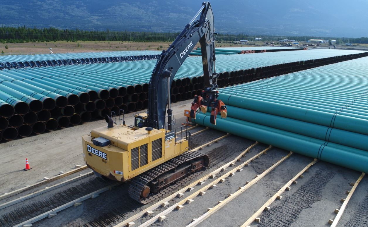 trans mountain pipeline expansion yard