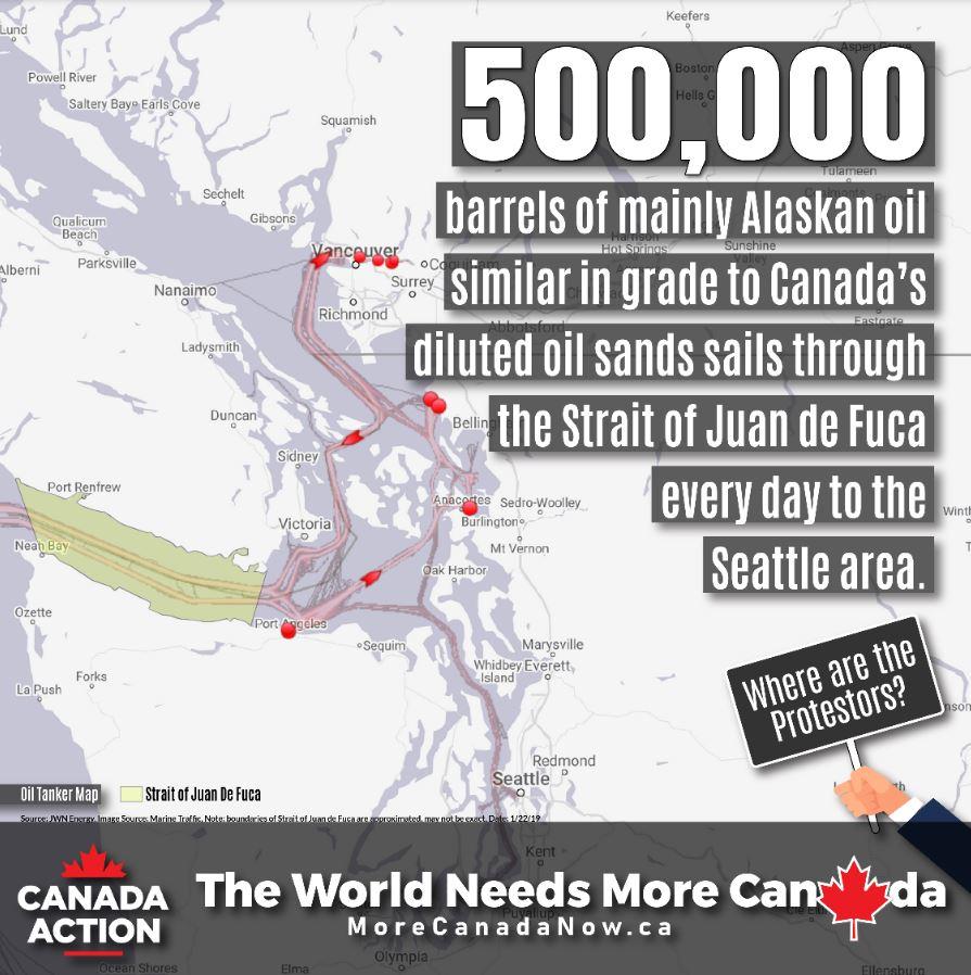 Alaska Oil Tankers Versus Trans Mountain Oil Tankers