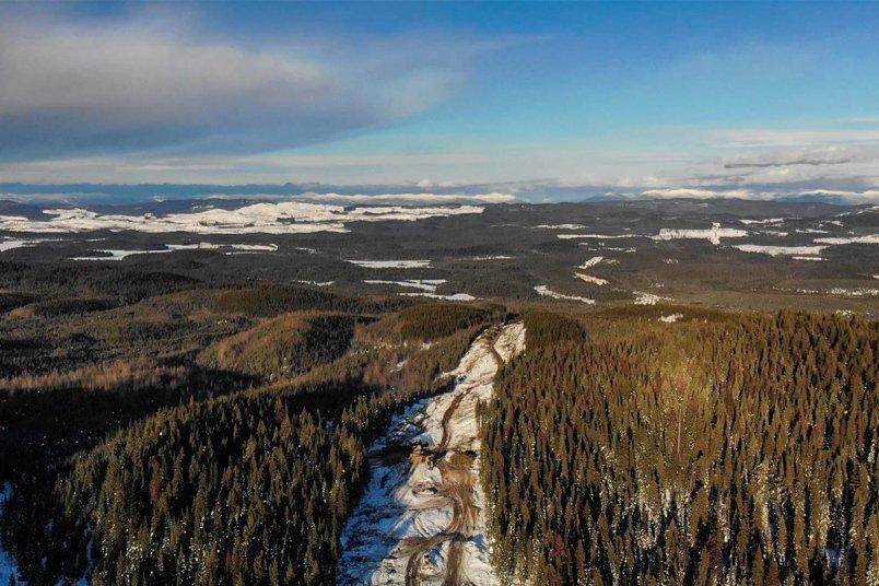Coastal GasLink Pipeline Under Construction in Northern BC