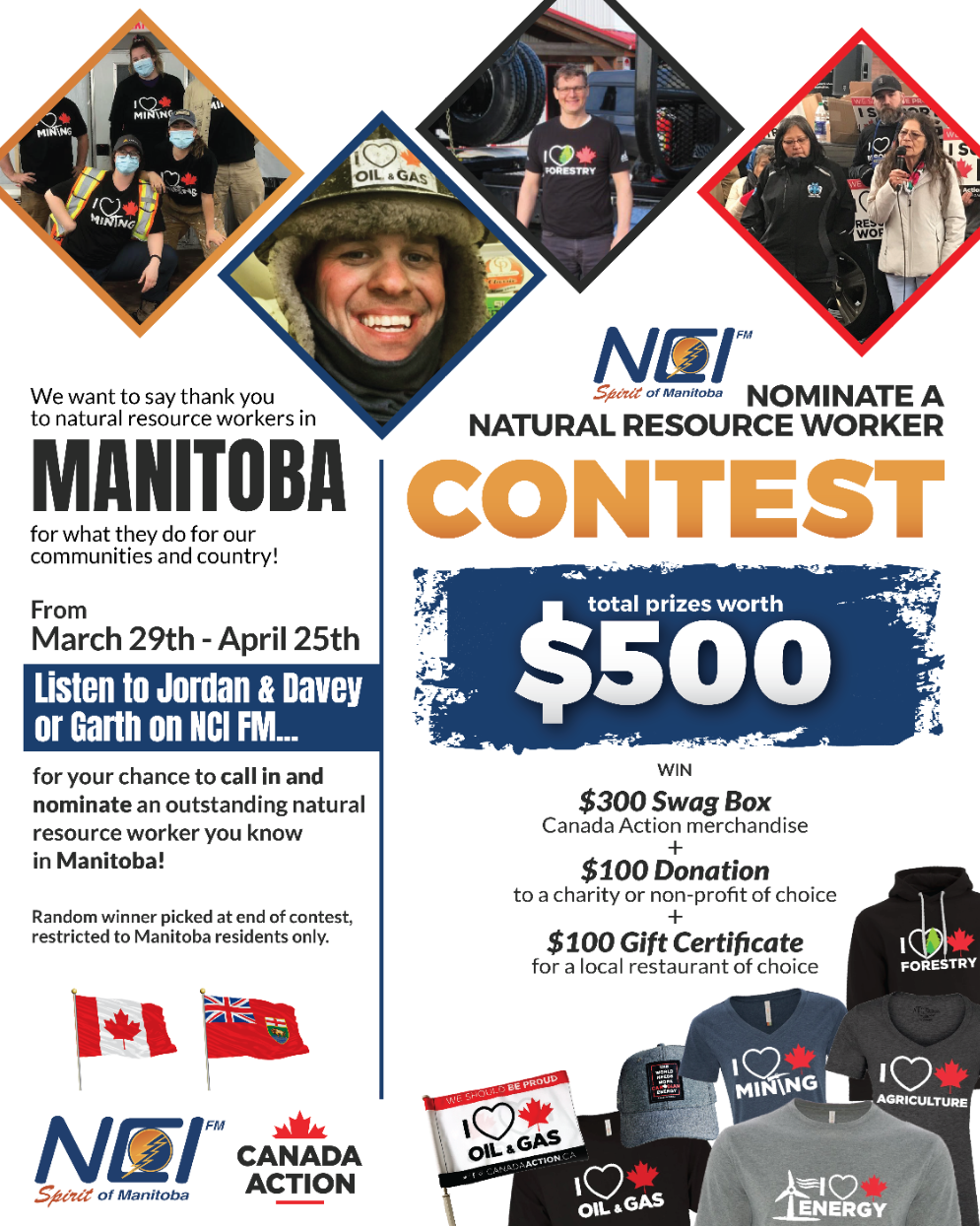 NCI FM Radio Nominate a Natural Resource Worker Contest March 2021