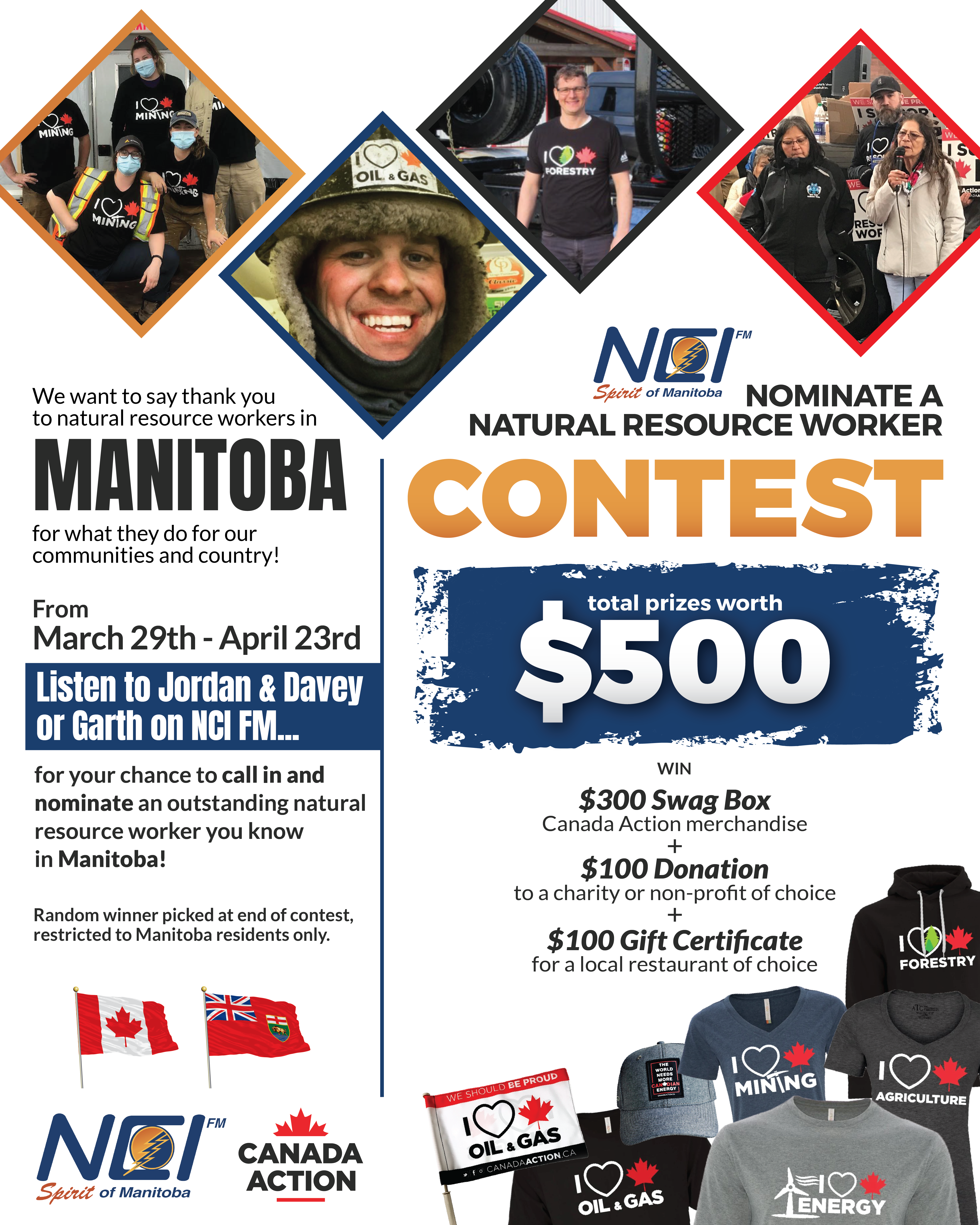 NCI FM Manitoba Natural Resource Worker Giveaway Contest