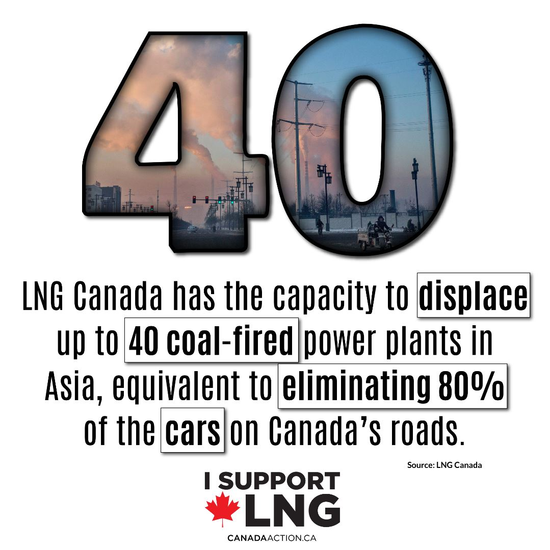 LNG Canada can displace up to 40 coal-fired power plants