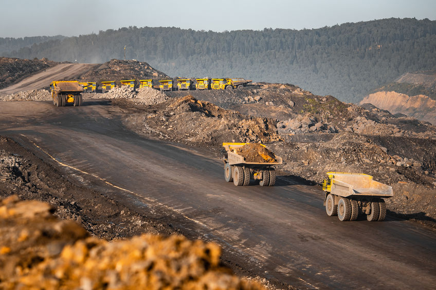 open pit mining trucks