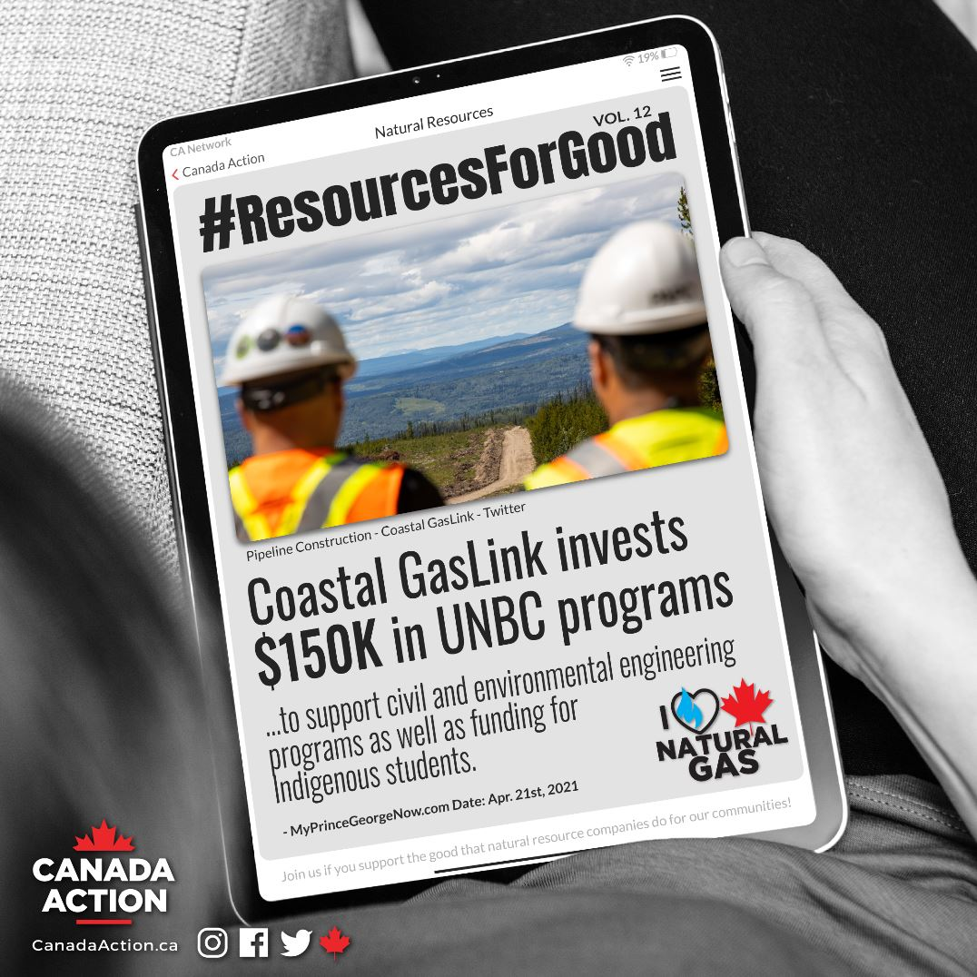 Resources for Good Coastal GasLink $180,000 to UNBC small