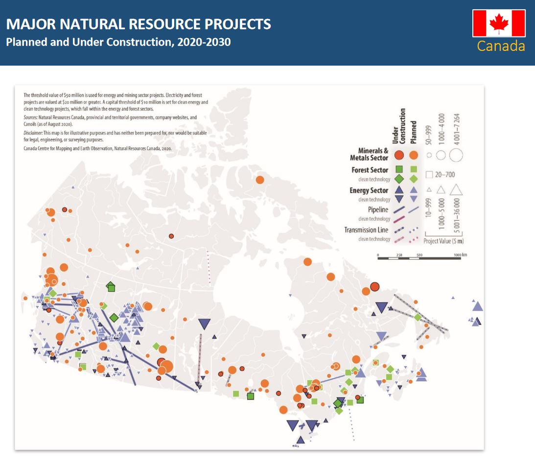 major natural resource projects planned in canada 2020-2030