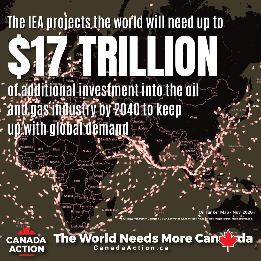 IEA the world needs up to $17 trillion of investment by 2040 to prevent oil supply shortages