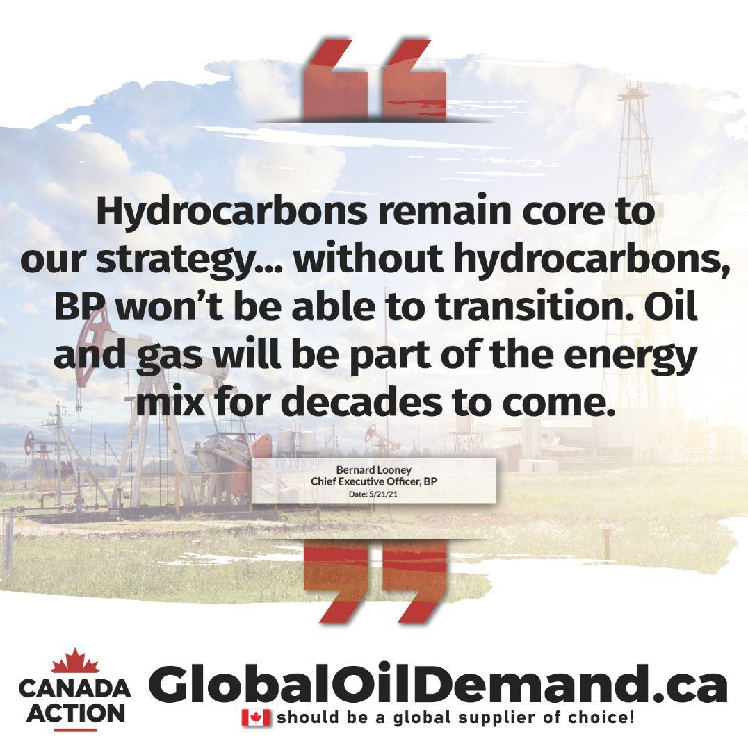 BP CEO Bernard Looney on Hydrocarbon demand