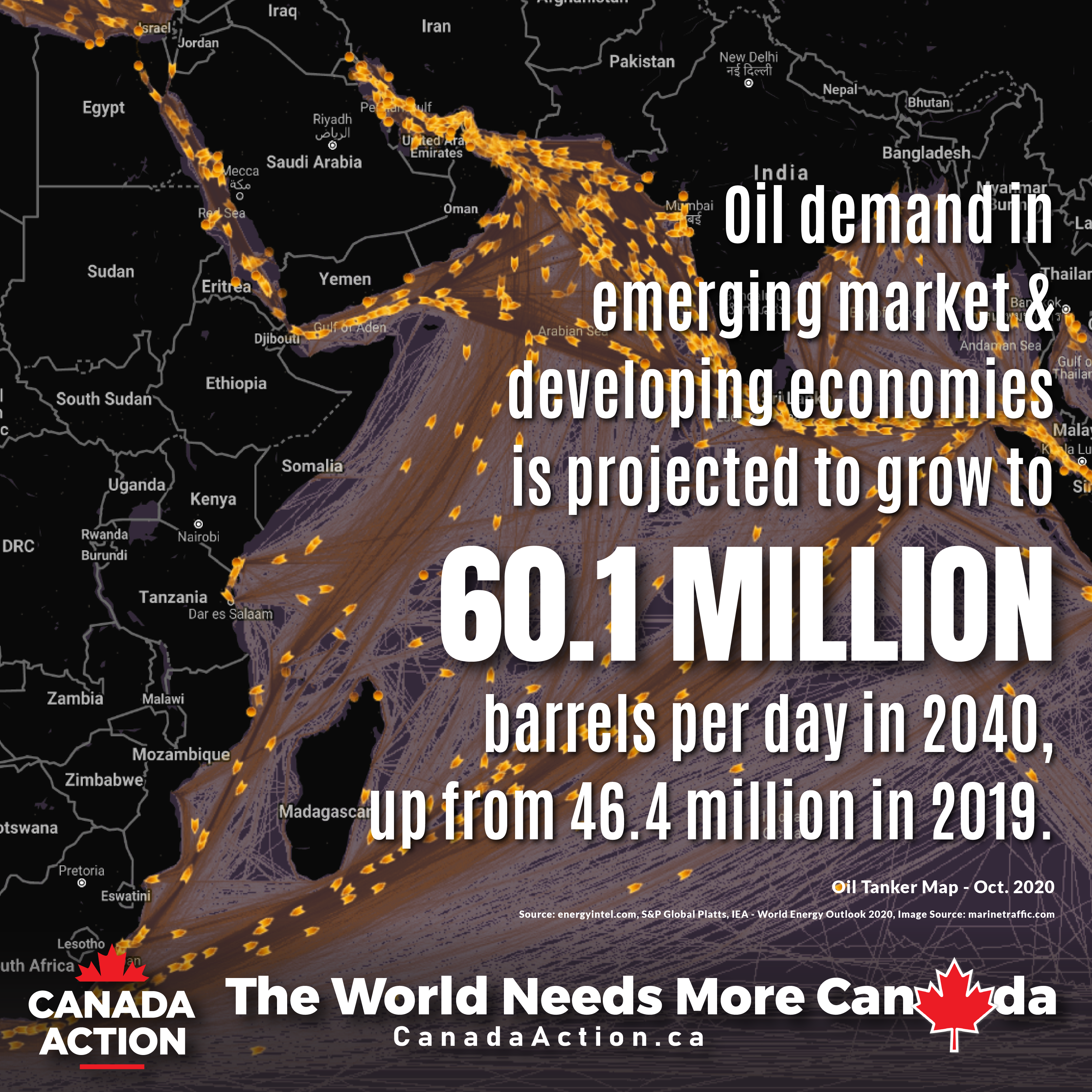 IEA World Energy Outlook 2020 - Developing Economies Global Demand Through to 2040
