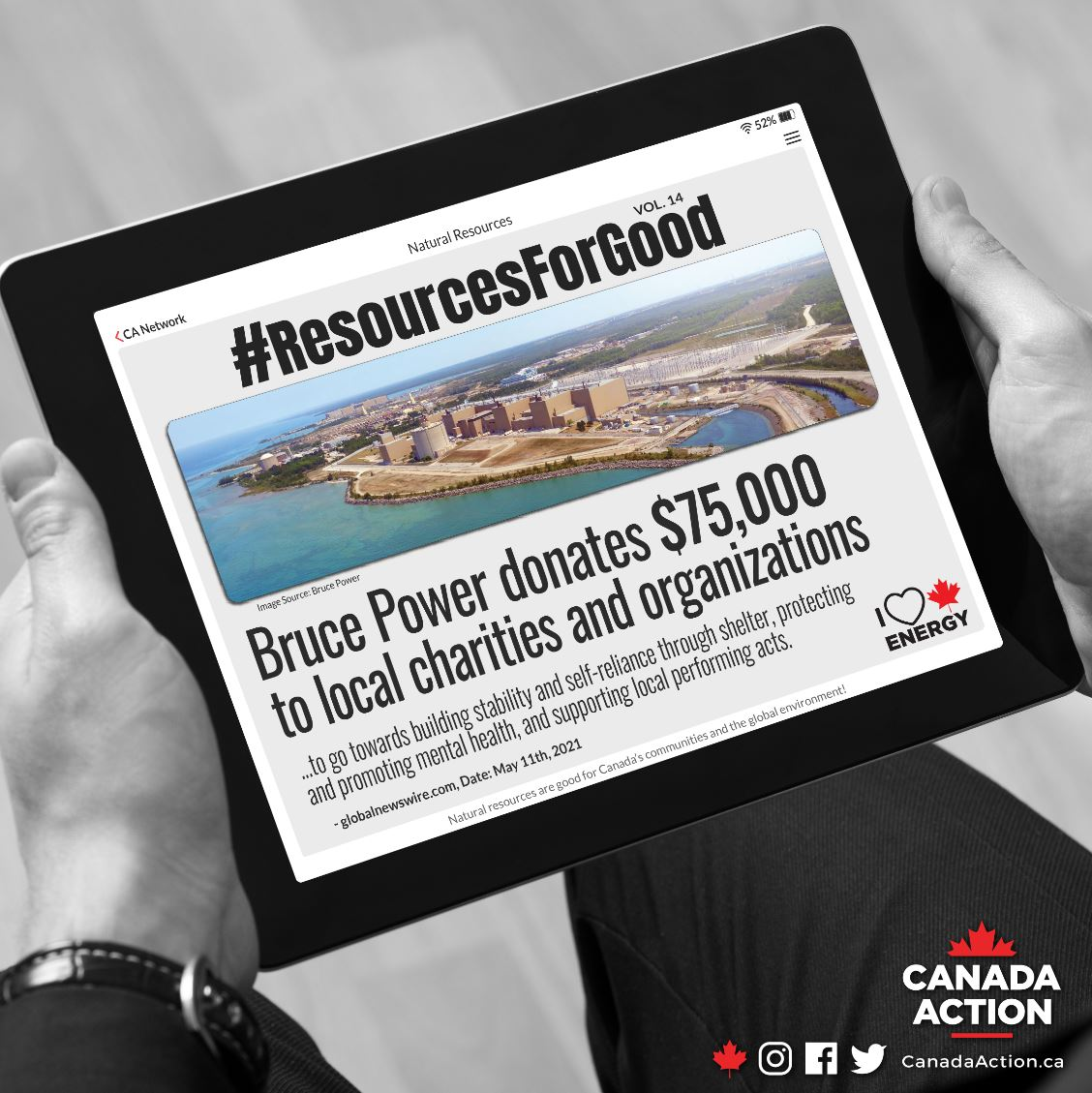 resources for good - bruce power donates $75,000 to charities