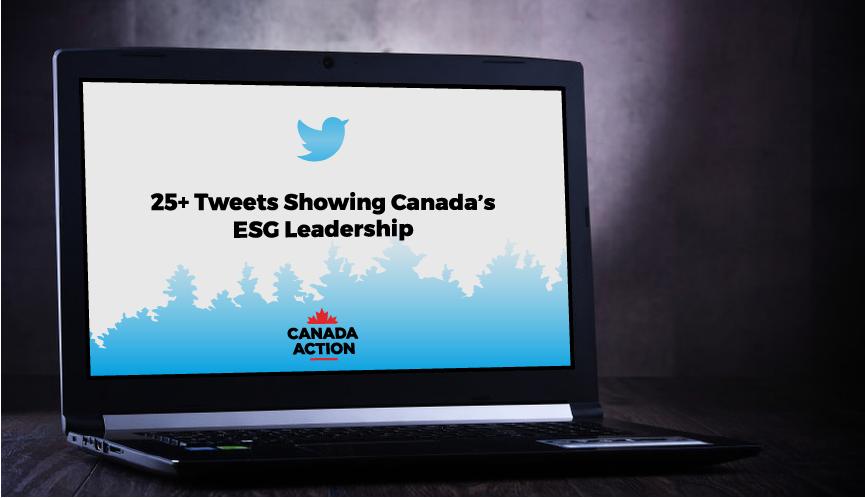 Tweets Showing Canada's Environmental Leadership