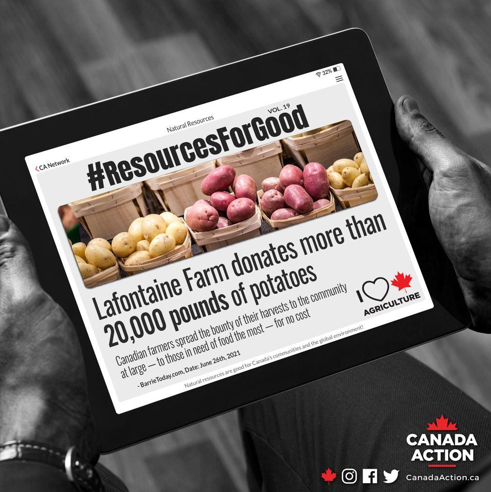 resources for good lafontaine farm donates 20,000 pounds of potatoes
