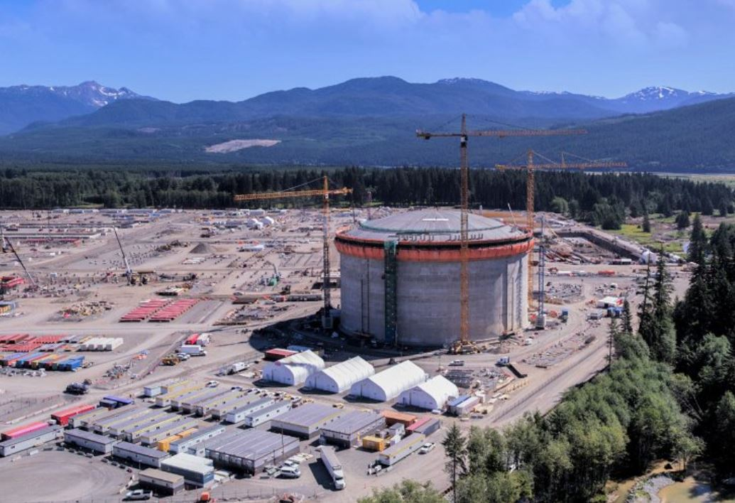 Construction at LNG Canada in Kitimat, BC