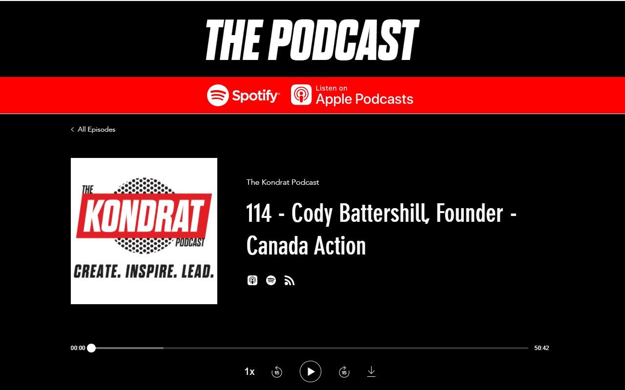 Cody Battershill - Kondrat Podcast Canada Action