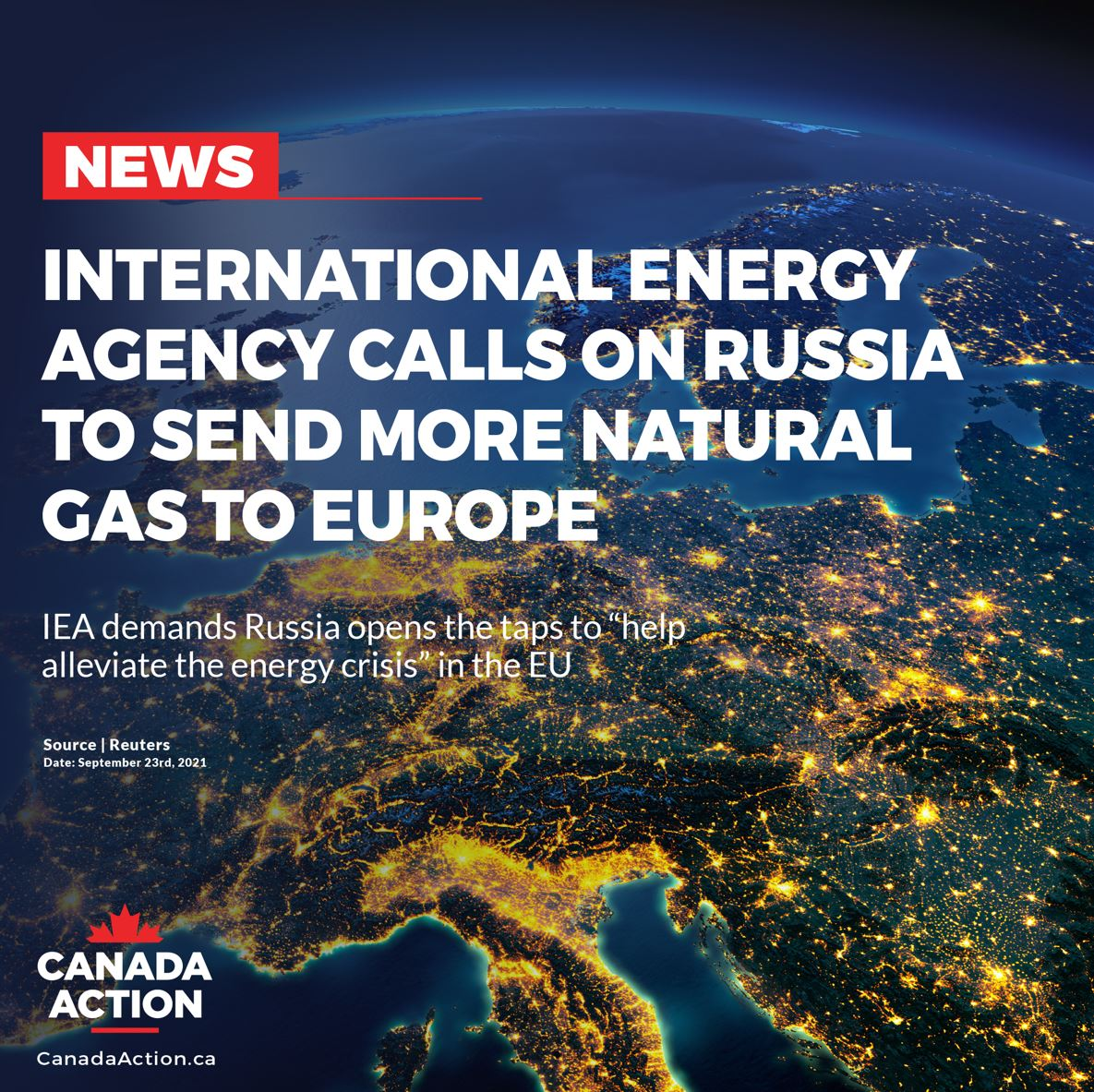 global energy shortage in 2021 IEA calls on suppliers to open up taps to EU